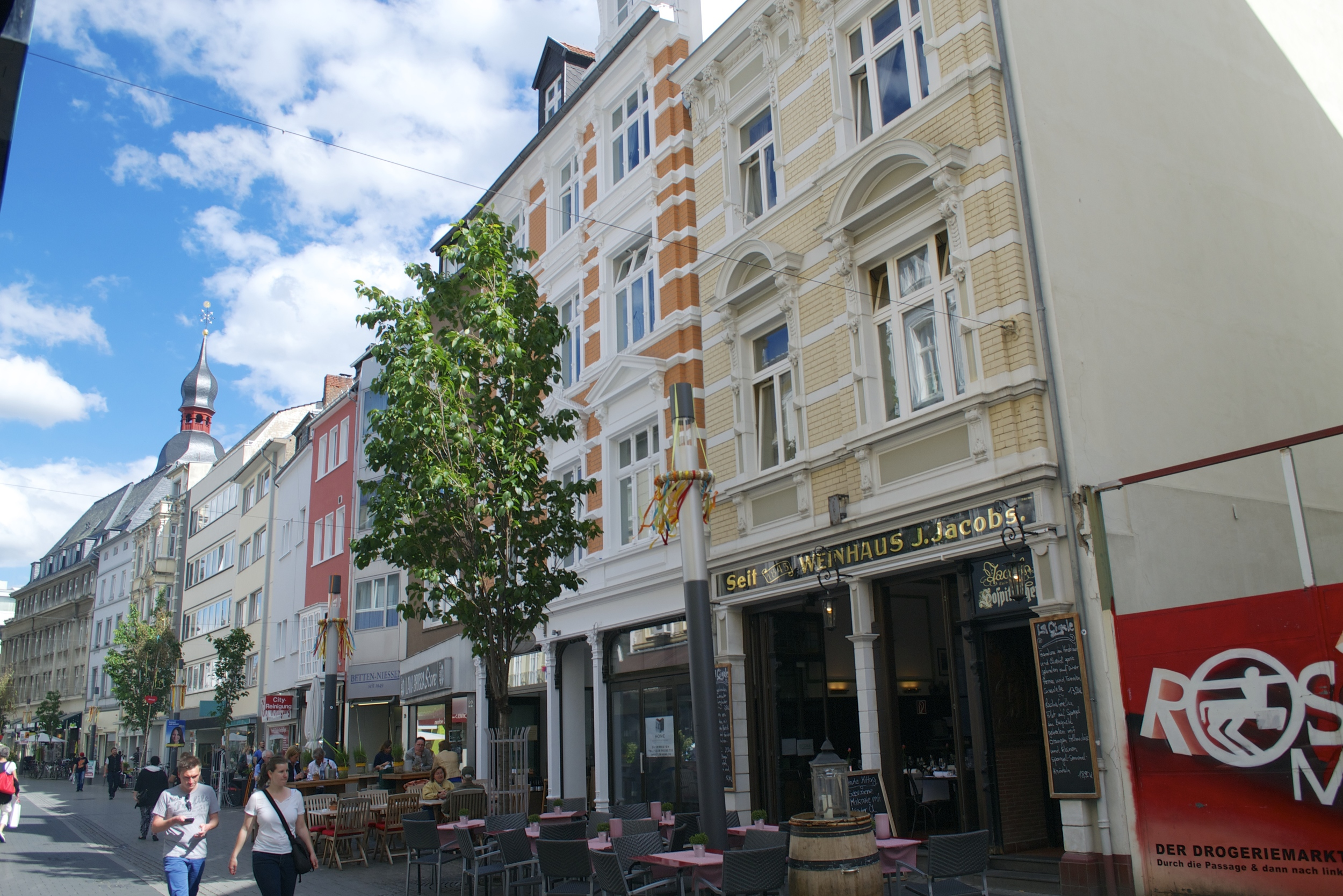 A typical street in Bonn's city center.
