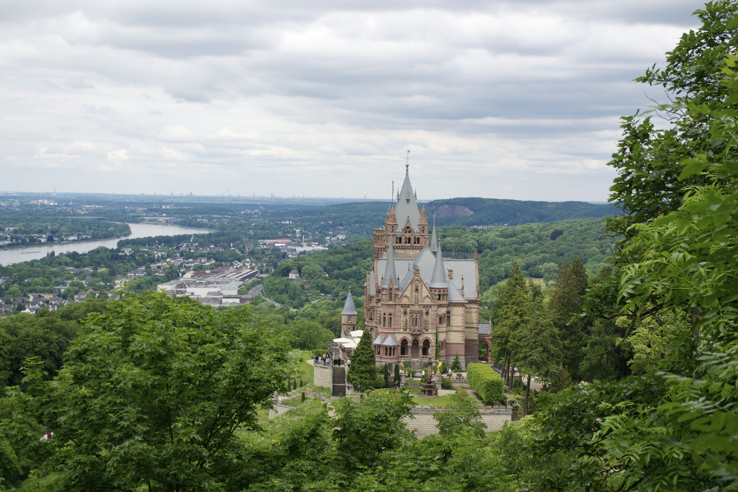 The view of Schloss Drachenburg from the hike up.