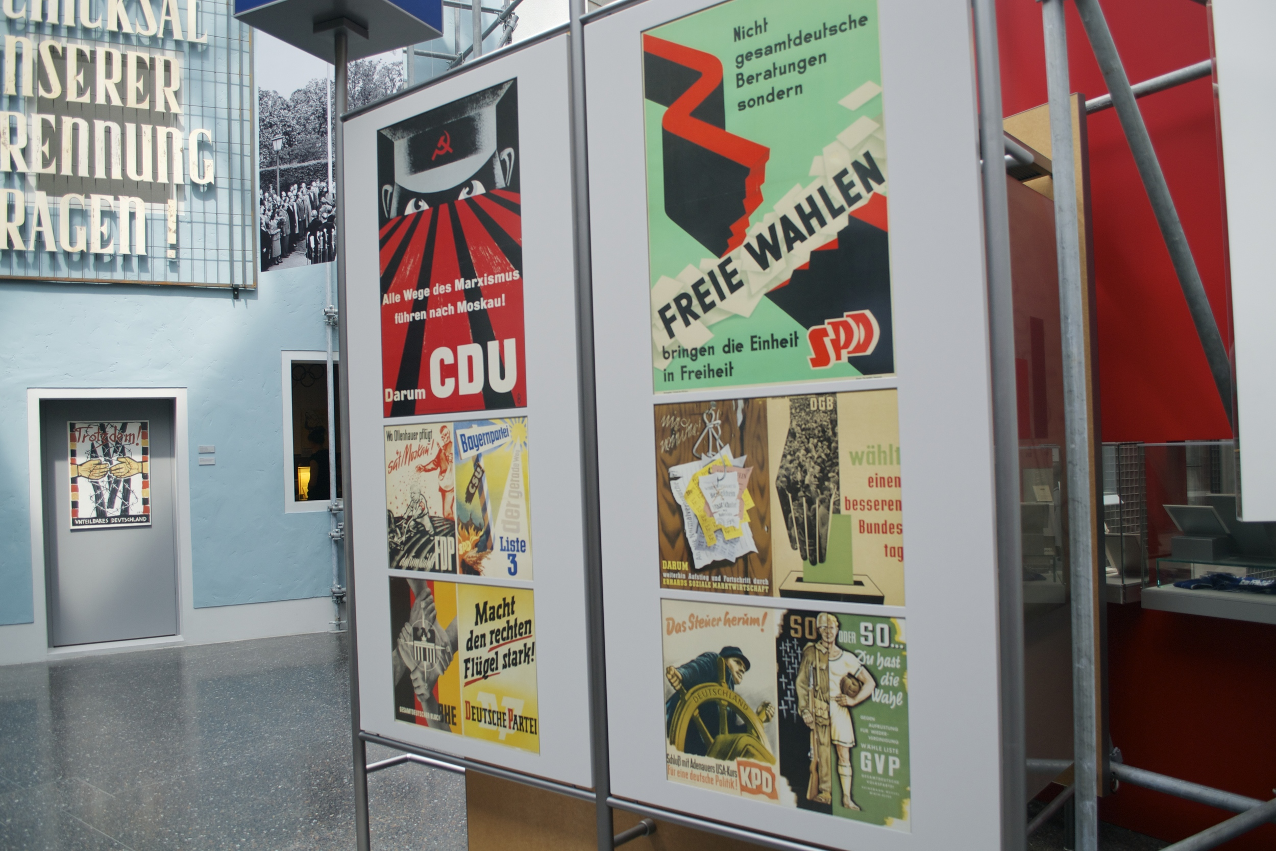 Campaign posters from the early days of Germany's post-war parties.