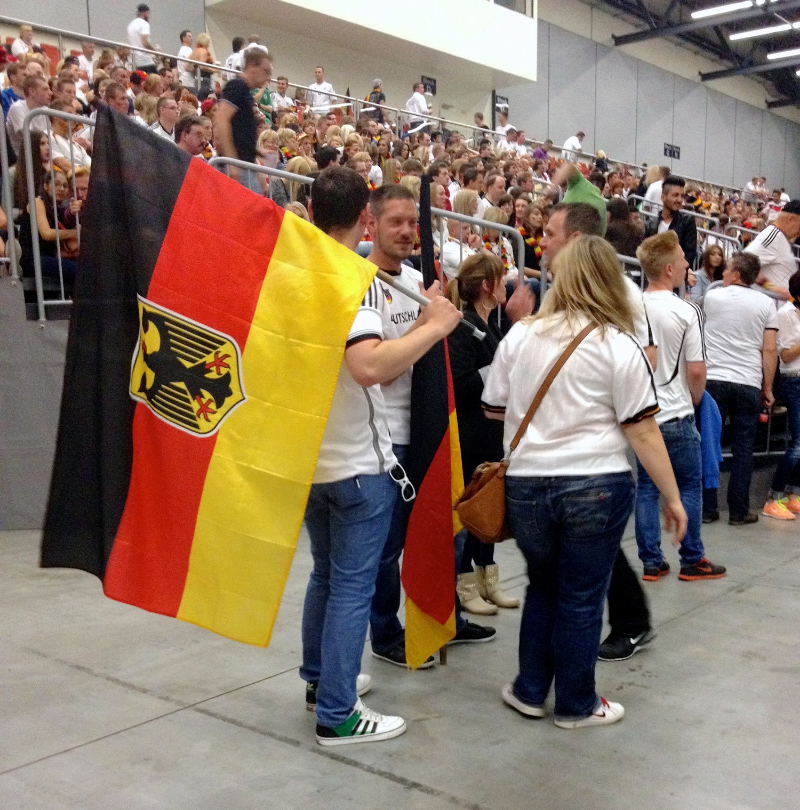Seen at a public viewing in Fulda. During the world cup? This guy is a normal fan. Outside of it? Possible neo-Nazi.