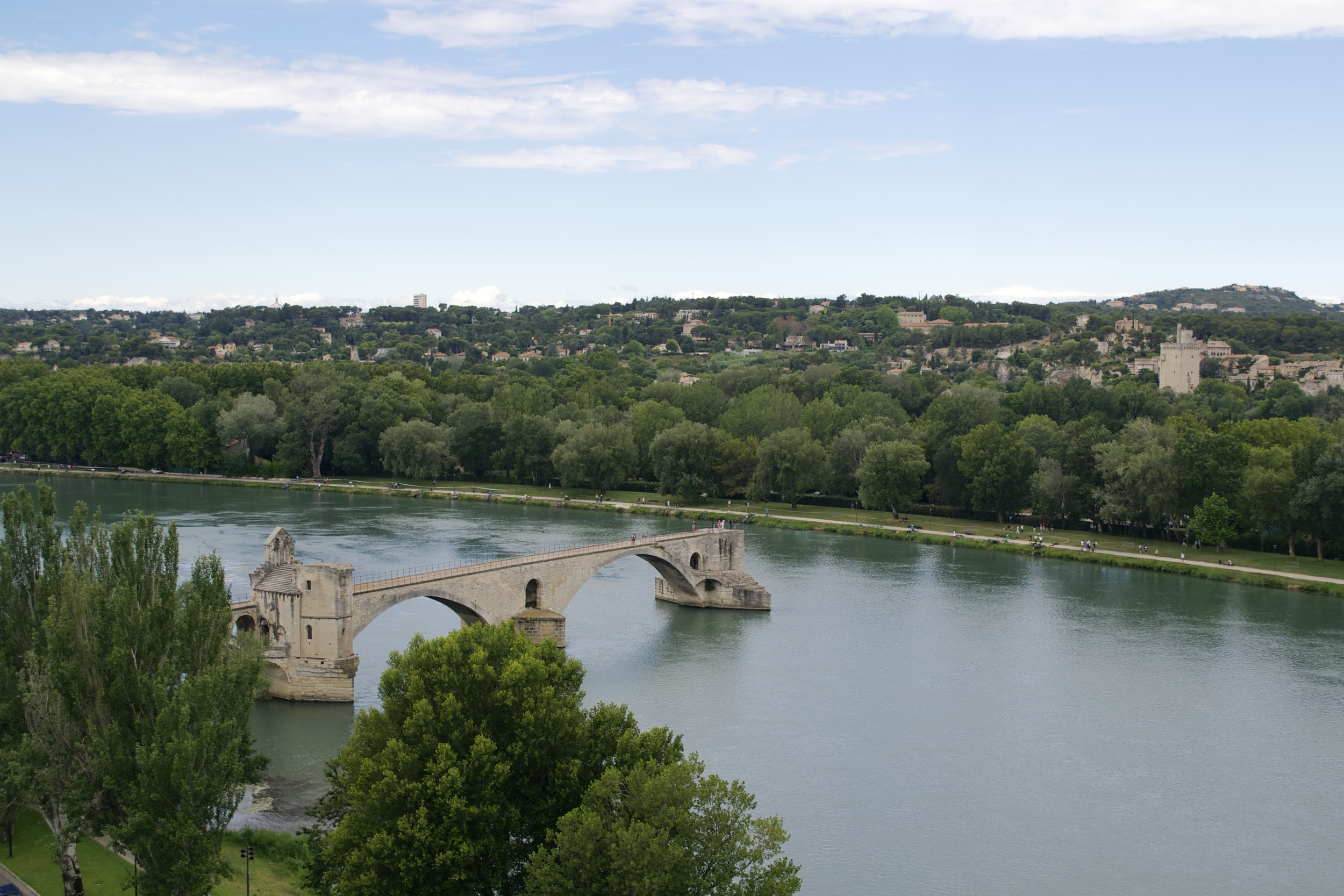 A bridge to nowhere in Avignon.