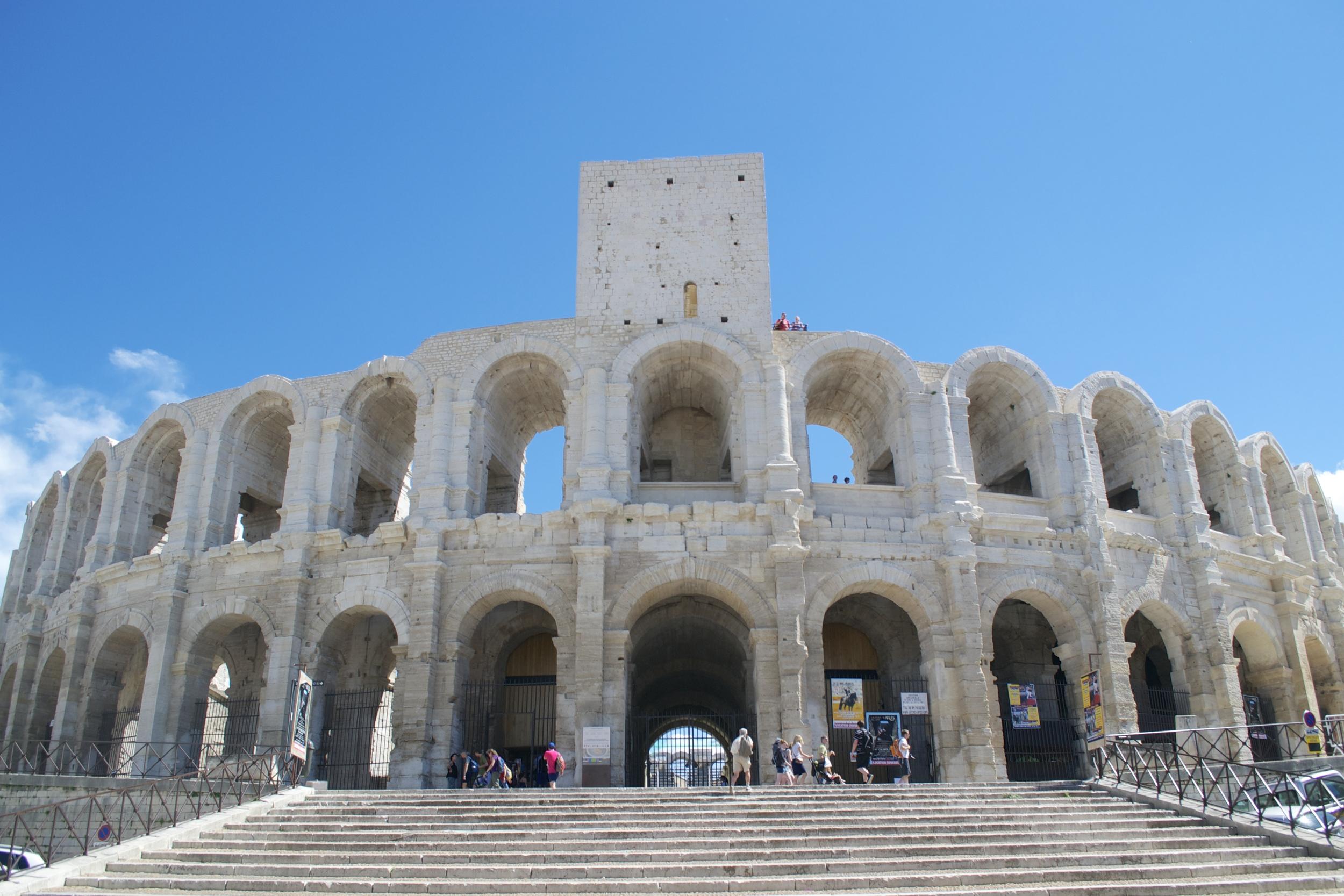 The Roman Amphitheater in Arles.