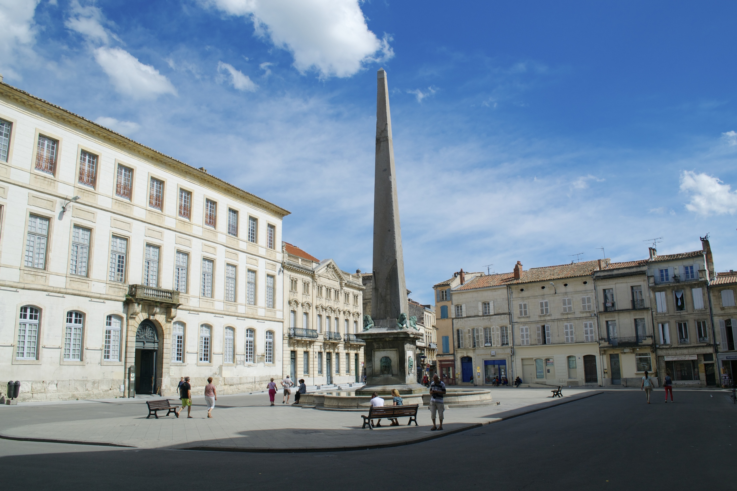 A quiet little square in Arles.