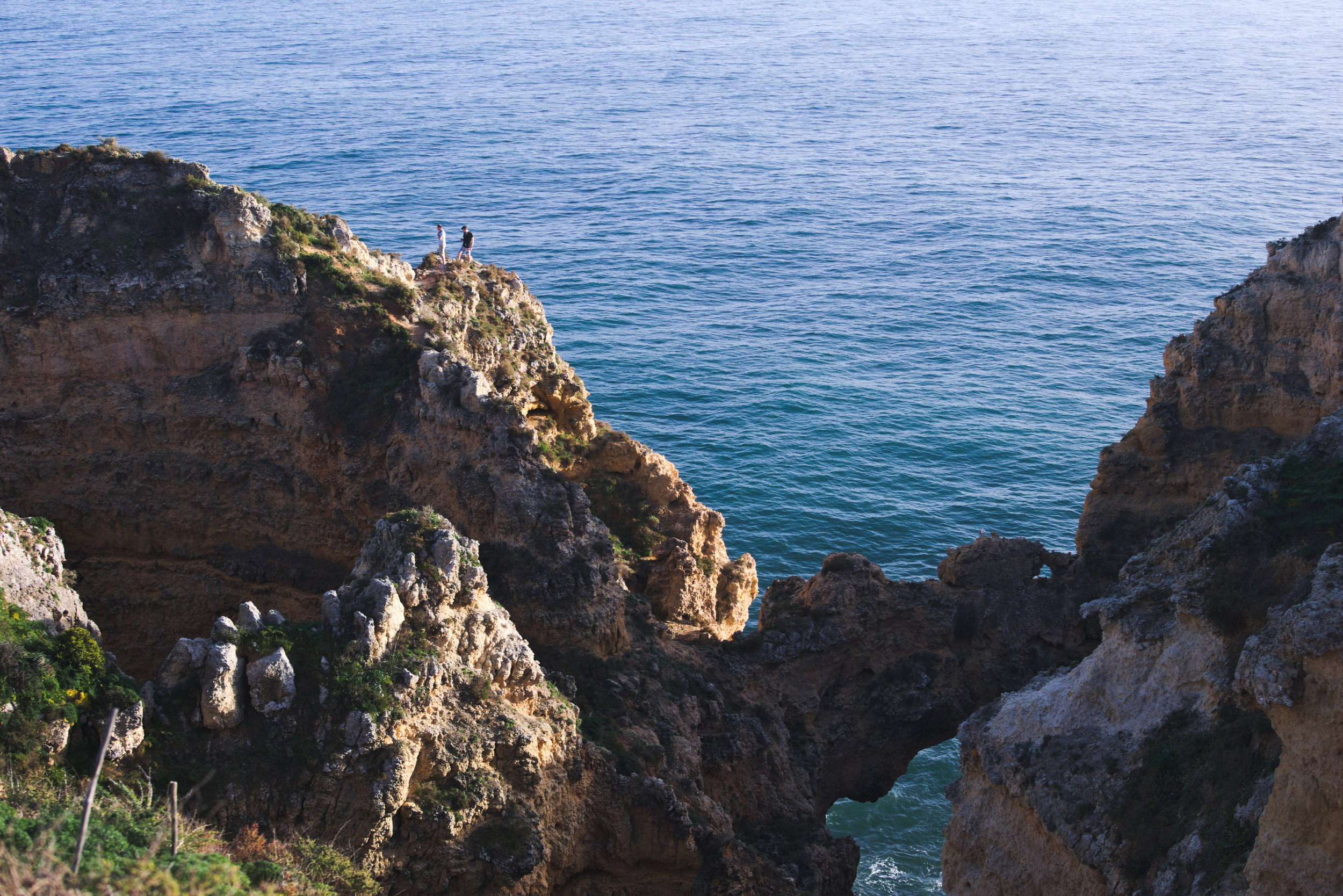 CLAMBERING OVER LAGOS' CLIFFS WAS NOT AS DANGEROUS AS IT LOOKED.
