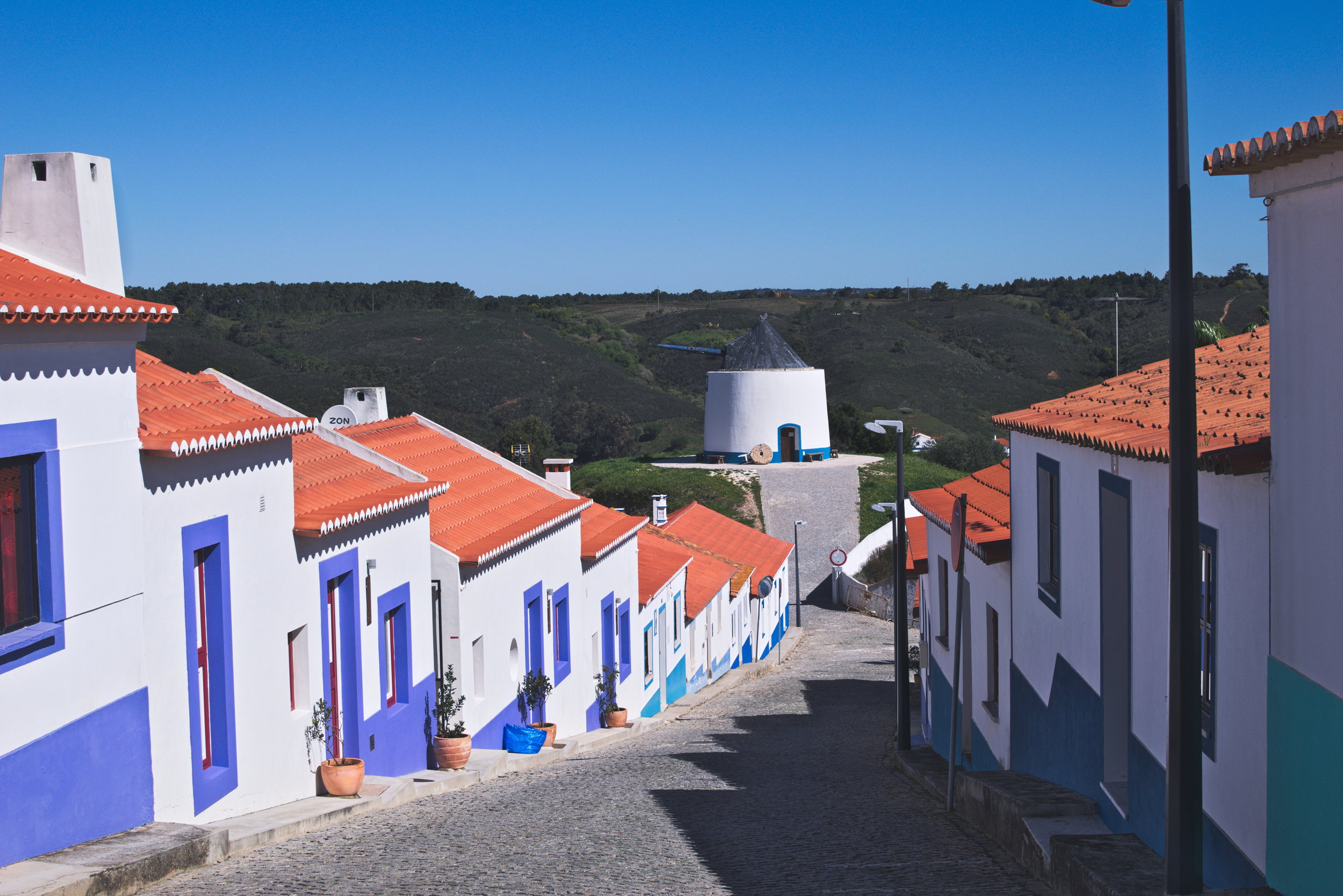 Portugal's towns were very bright and colorful, as Odeceixe demontrates here.