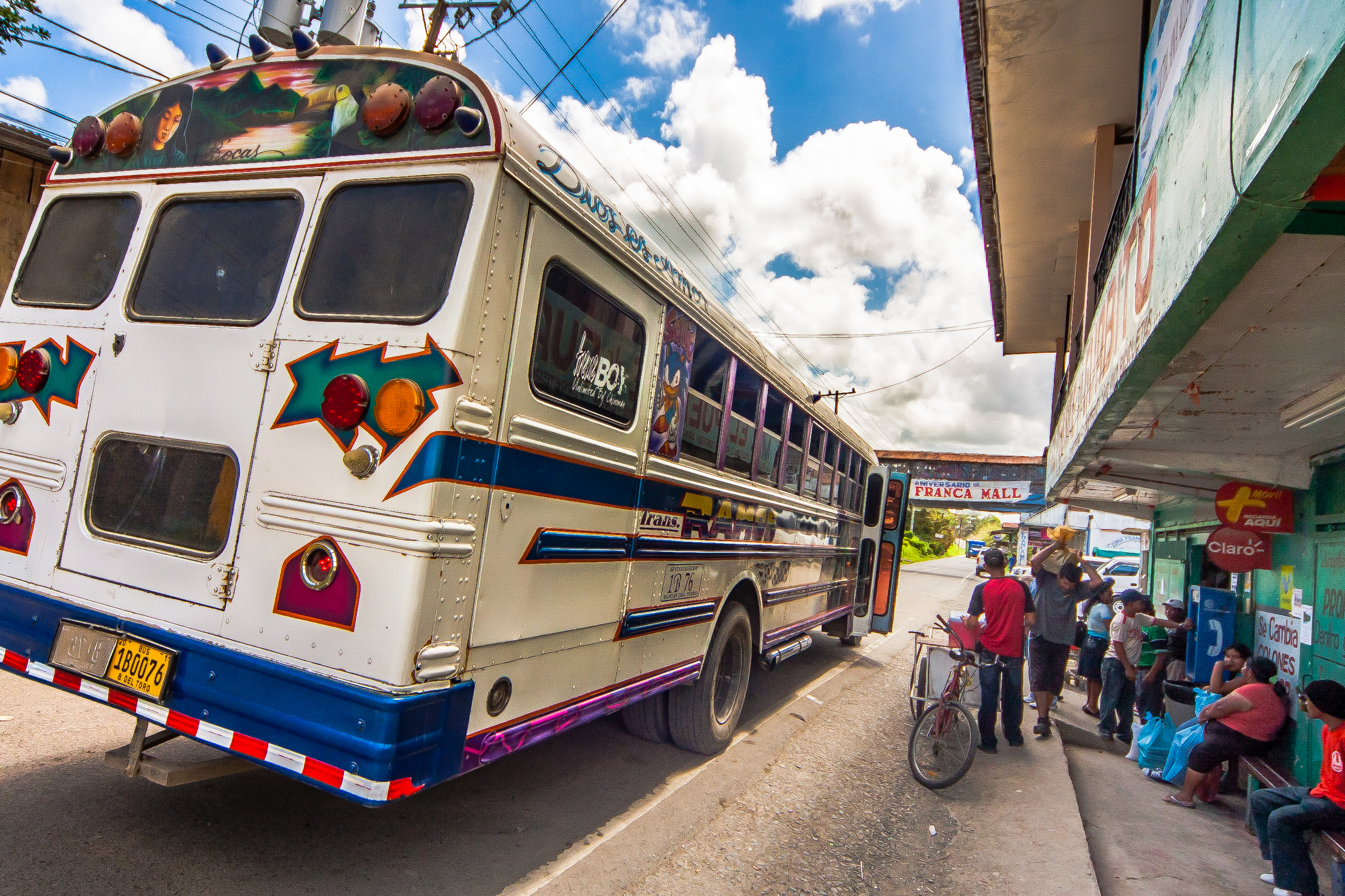 """For a colorful and memorable experience, give the local """"chicken bus"""" a try for short hops."""
