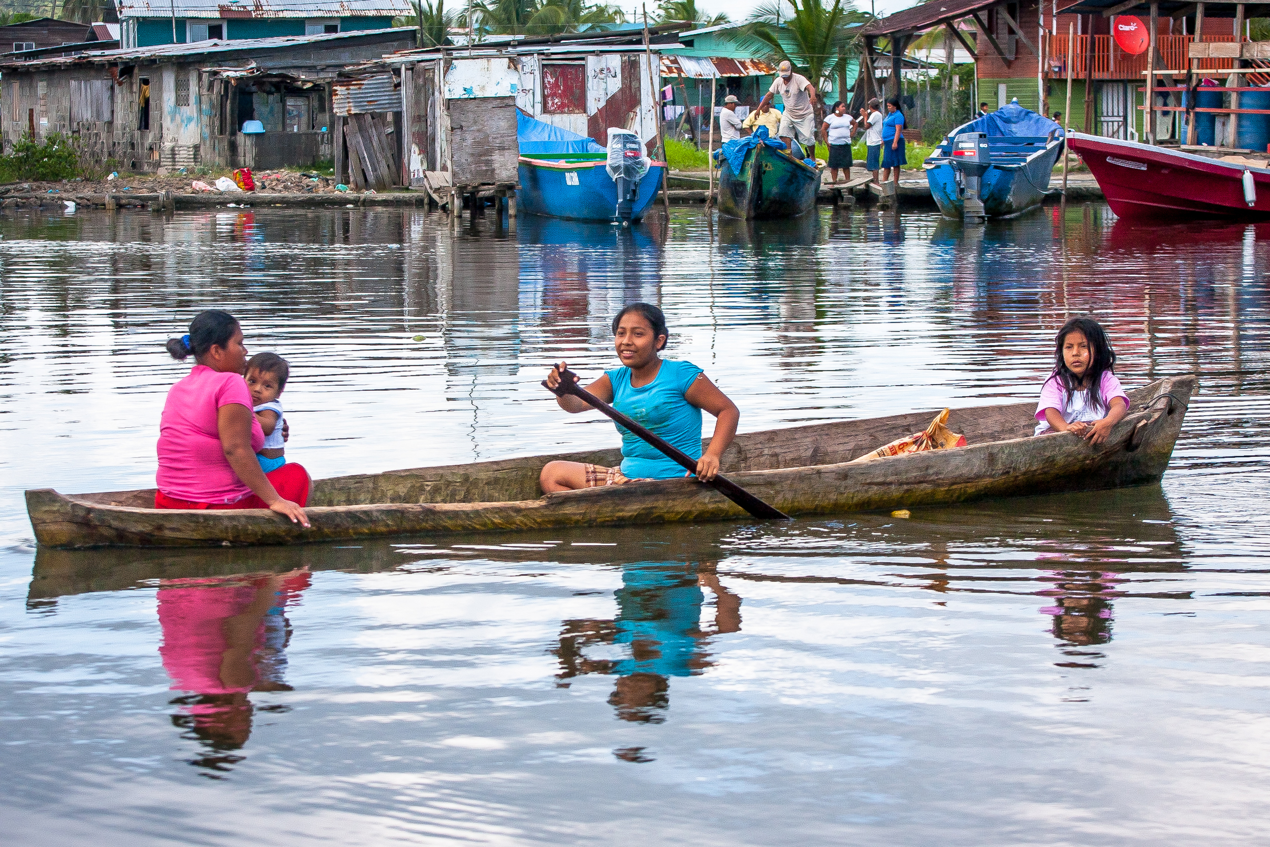 Fellow travelers and loads of color at the Almirante water taxi station enroute to Bocas del Toro, Panama.