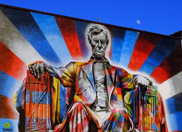 Eduardo Kobra 's Lincoln mural, downtown Lexington by  Tom Eblen