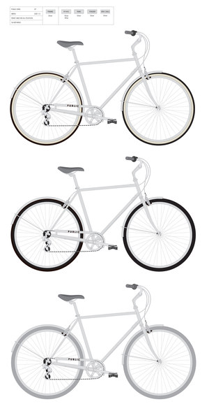 Bicycle Graphic mockups, PUBLIC Bikes