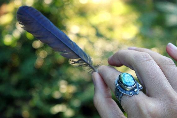 Corvid Medicine Ring