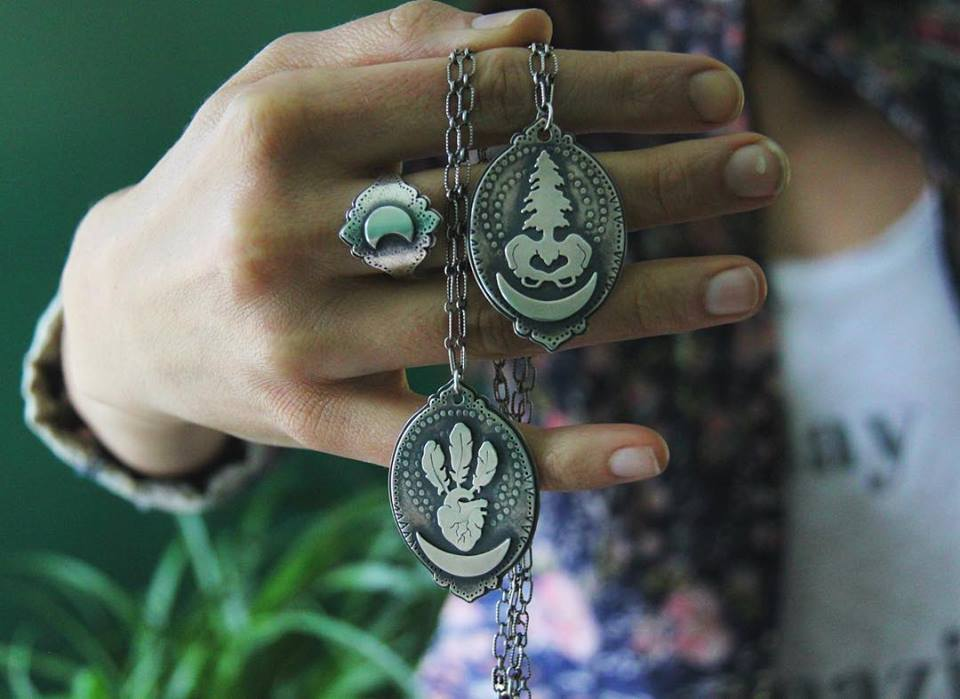 Lunar Effect ring and Our Lady pendants