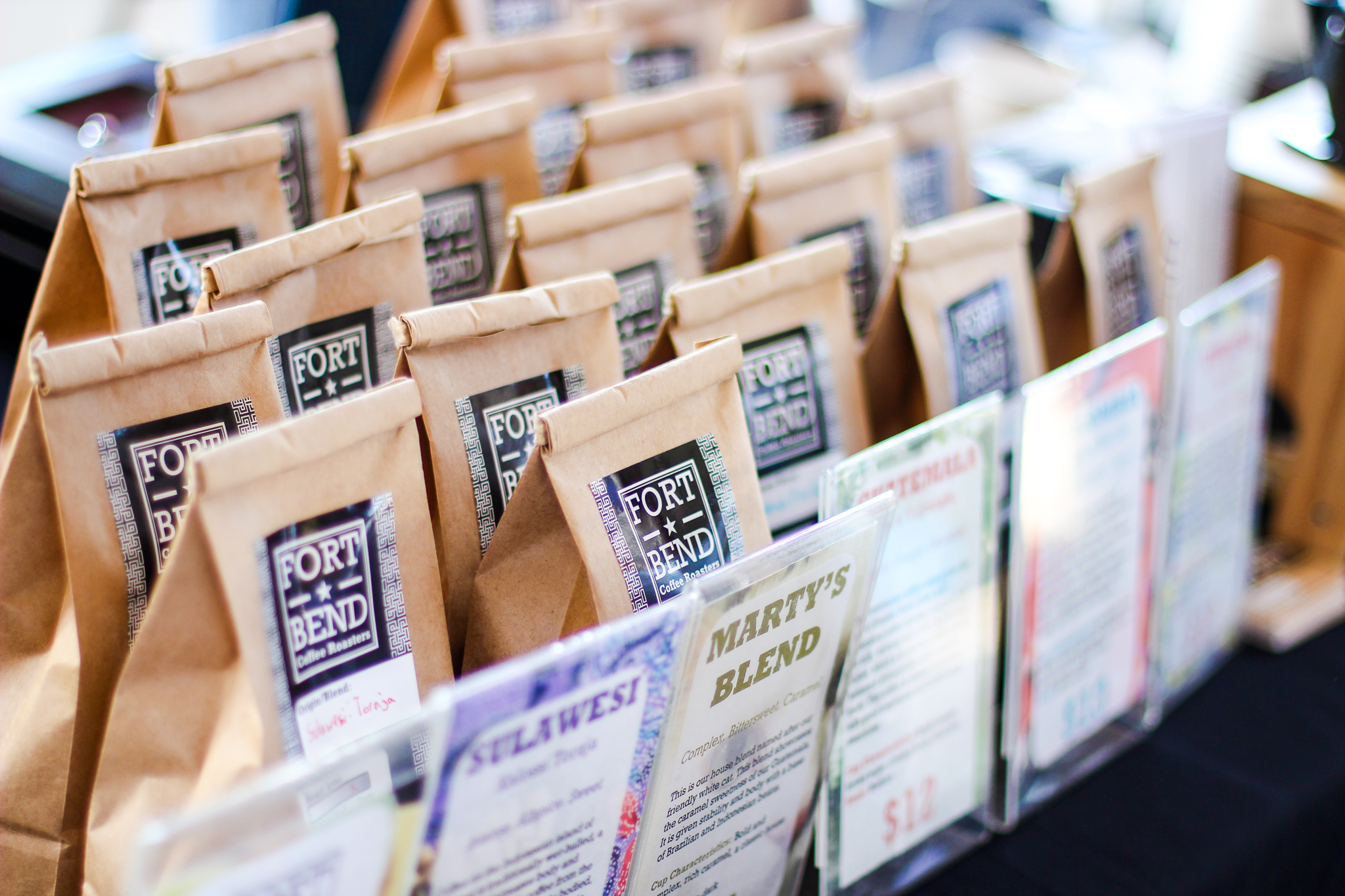 We offer a wide selection of freshly roasted coffee every market.