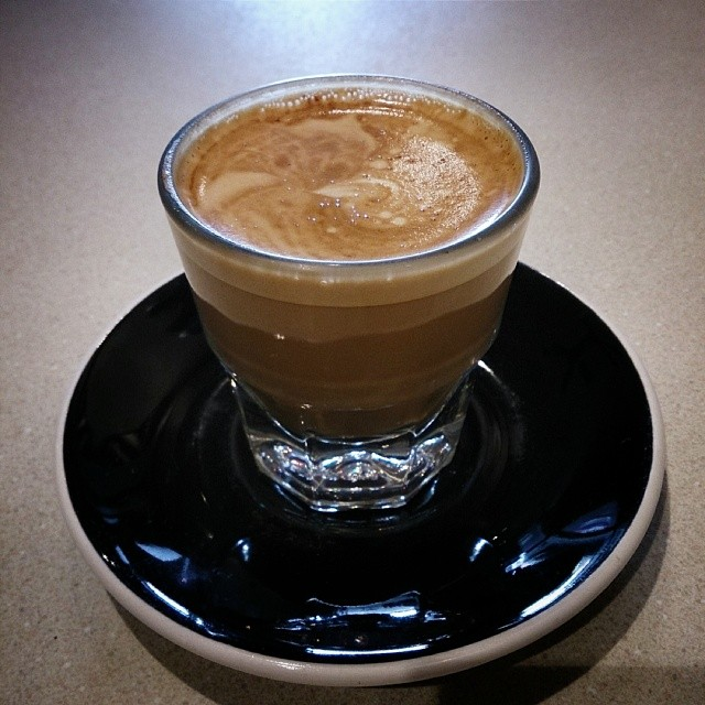 A beautiful Cortado from Boomtown Coffee in the heights.