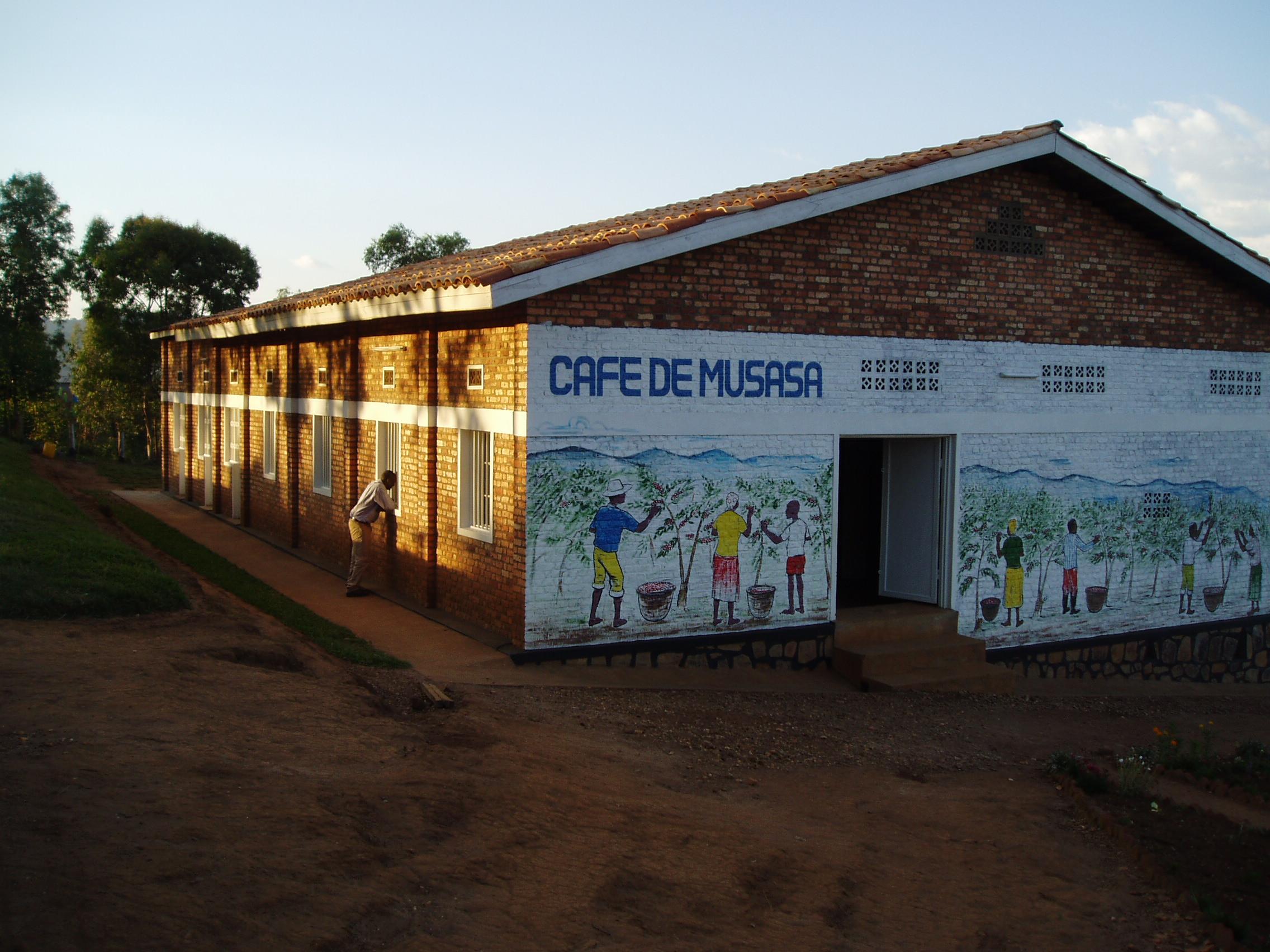 Musasa Mill in Rwanda. Photo from InterAmerican Coffee.