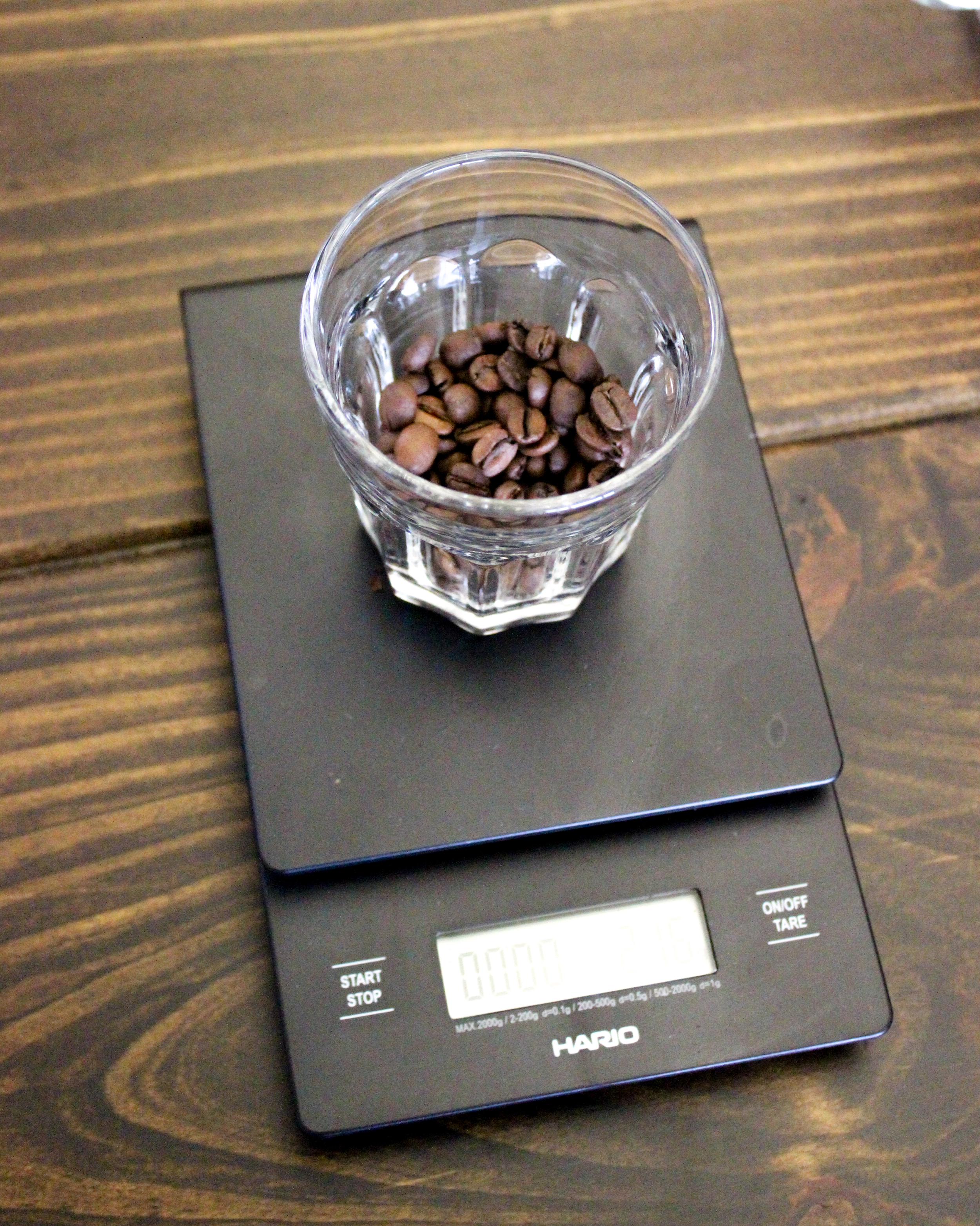2. Weigh out 22 grams of coffee.