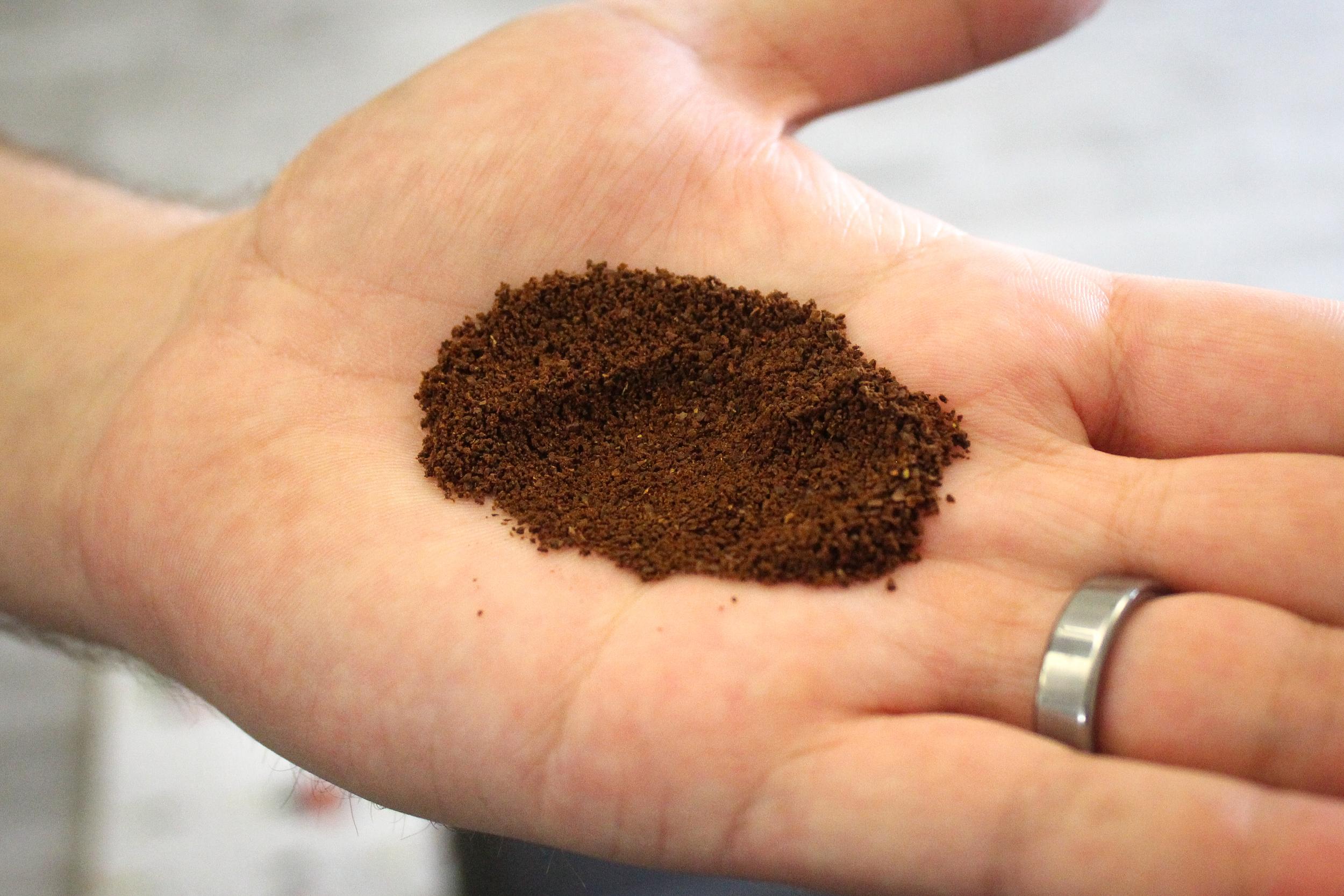 3. Grind coffee to medium-fine consistency (like table salt).