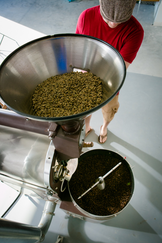 Our current roastery in Fulshear.