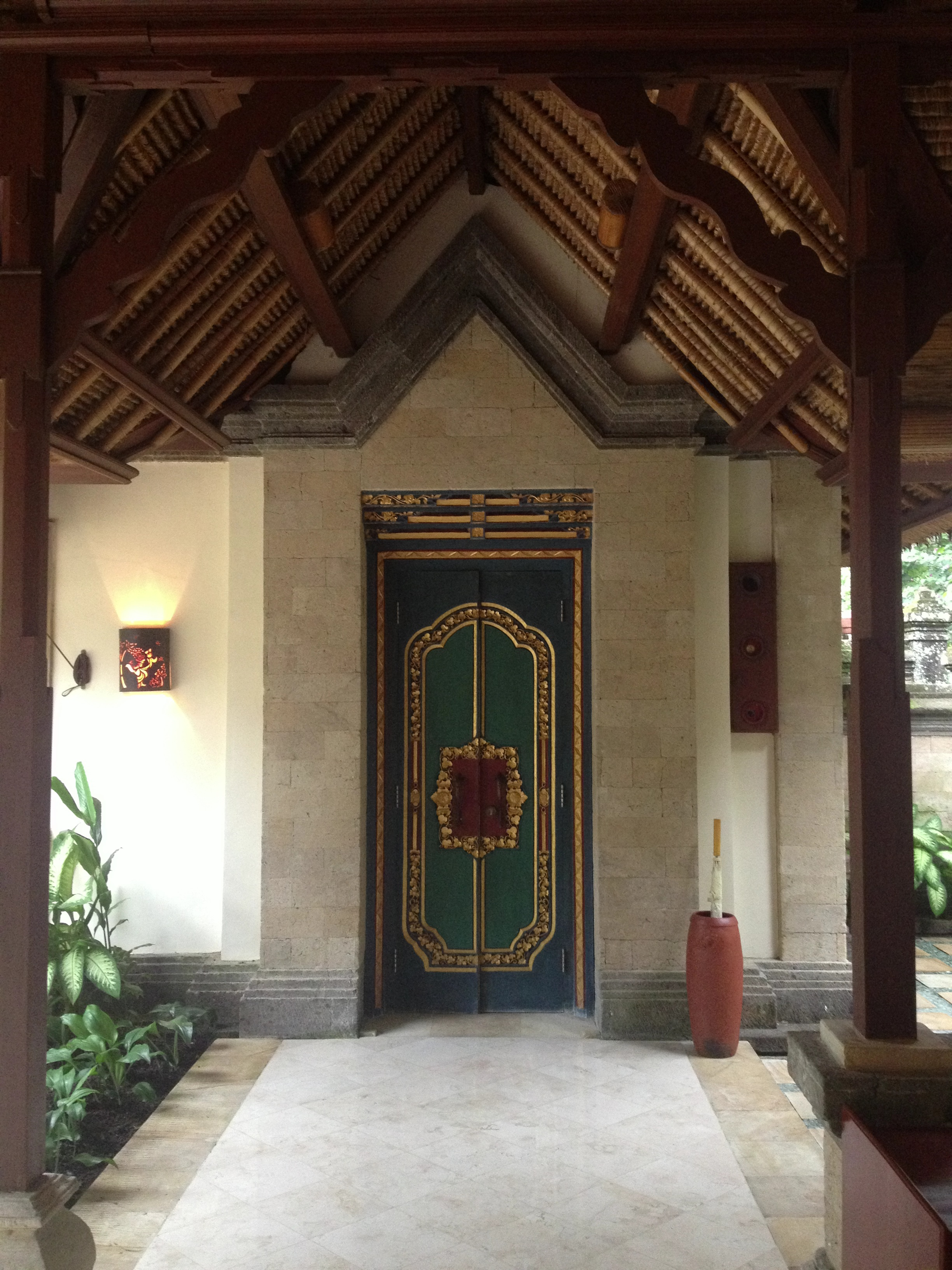 Our villa's front door at Puri Wulundari in Ubud.