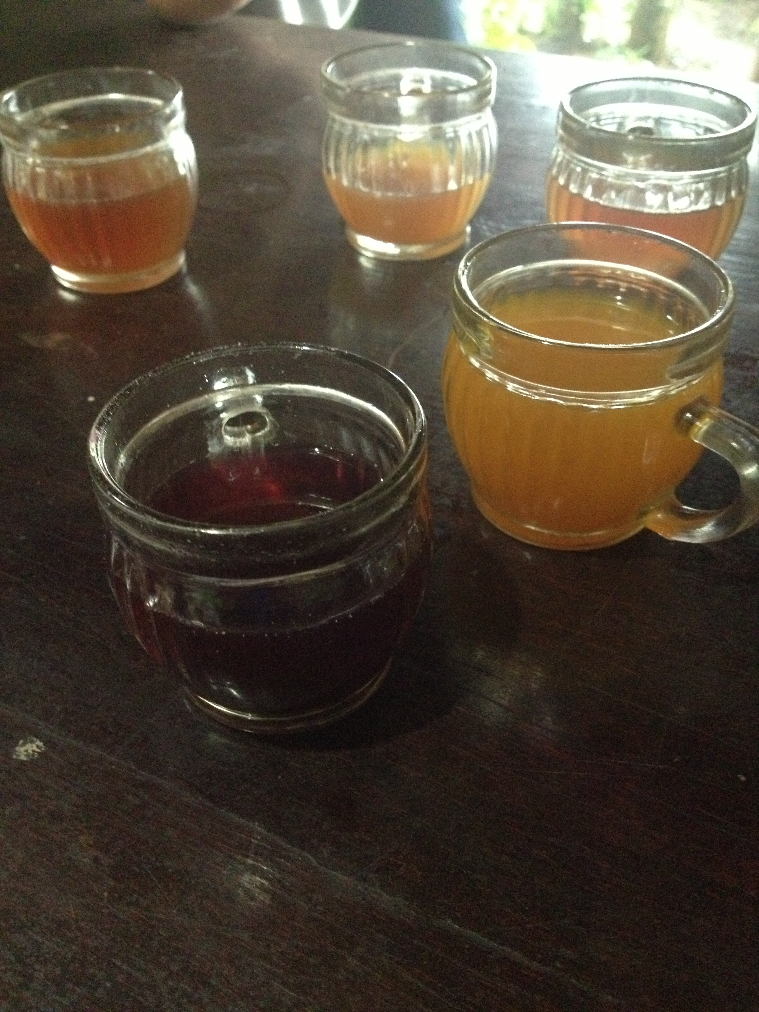 Coffe and tea sampling.