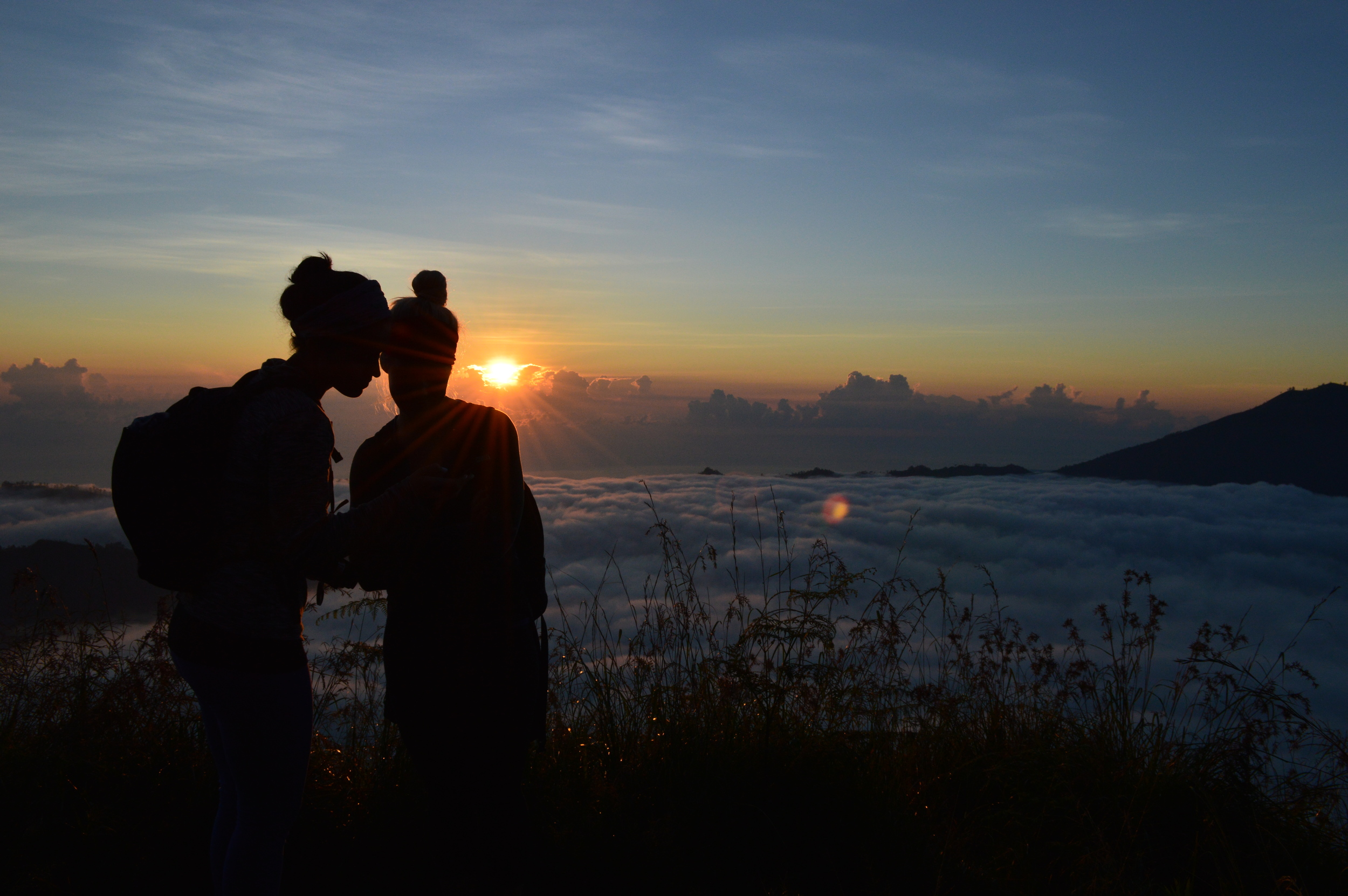 Sunrise - the view from the top of Mt. Batur.