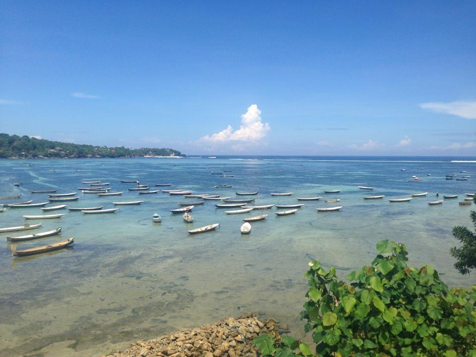 Seaweed farming Lembongan Island.