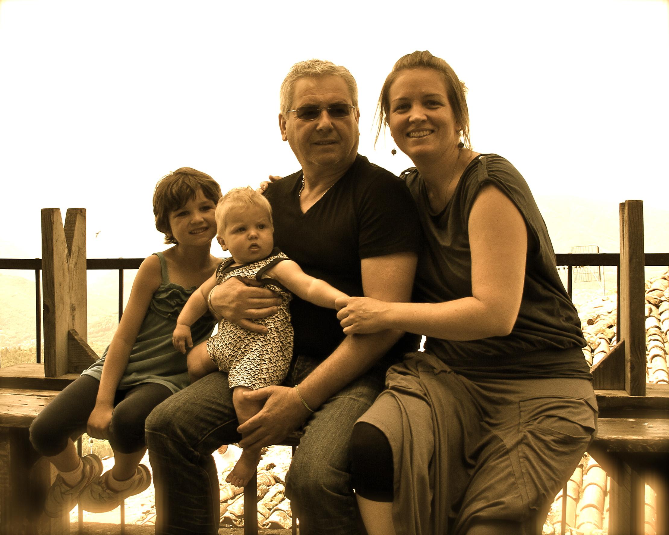 The Sorenson-Ferrara family in Sillico, Garfagnana.