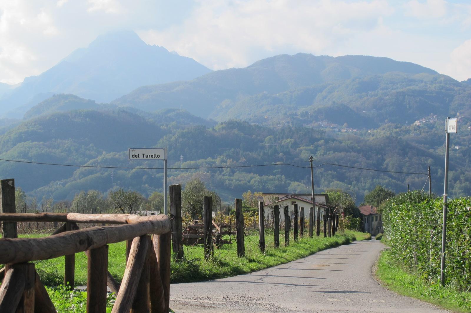 Celebratory view of La Pania Secca from Barga.