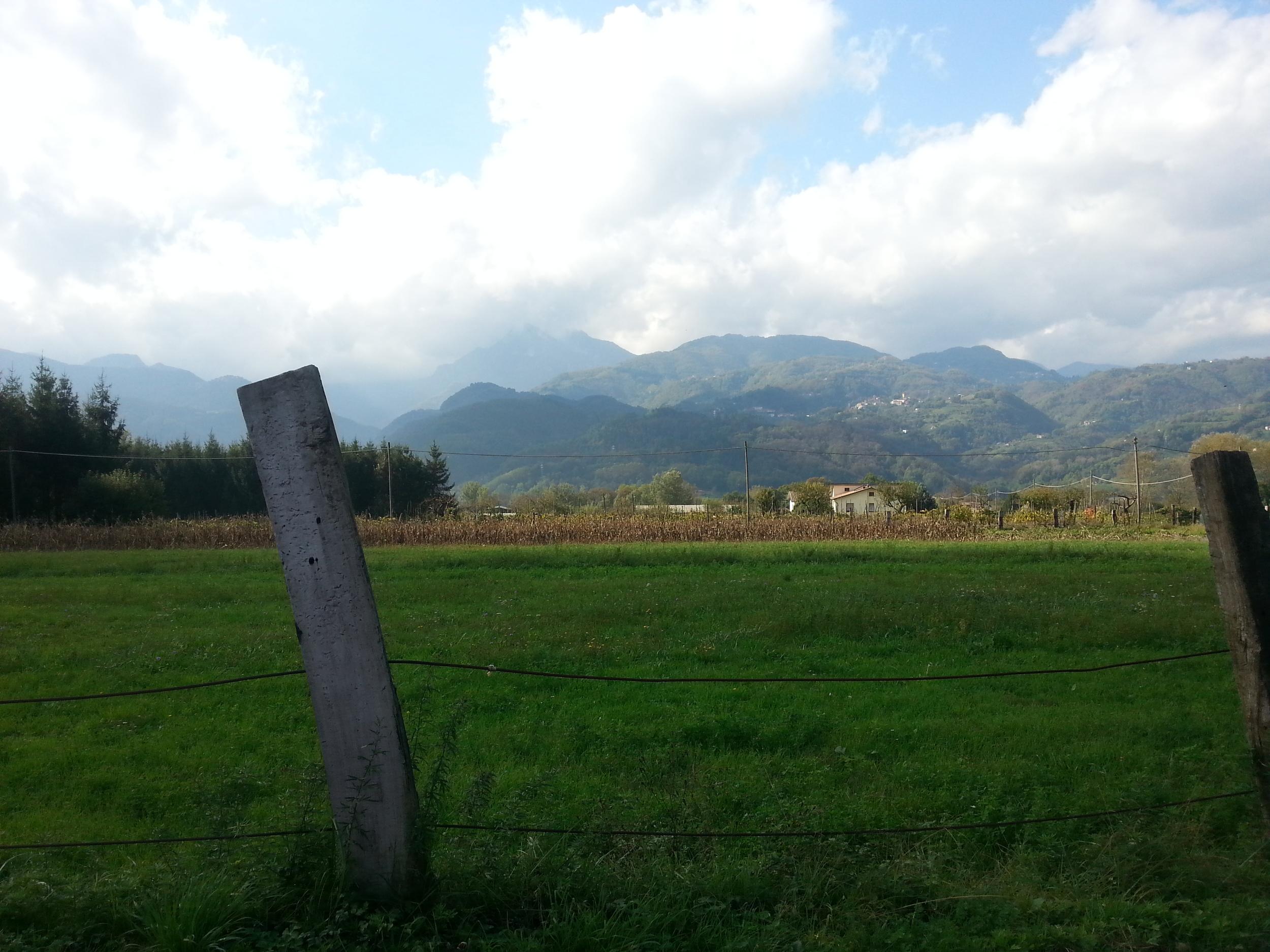 View from Via del Turello in Barga.
