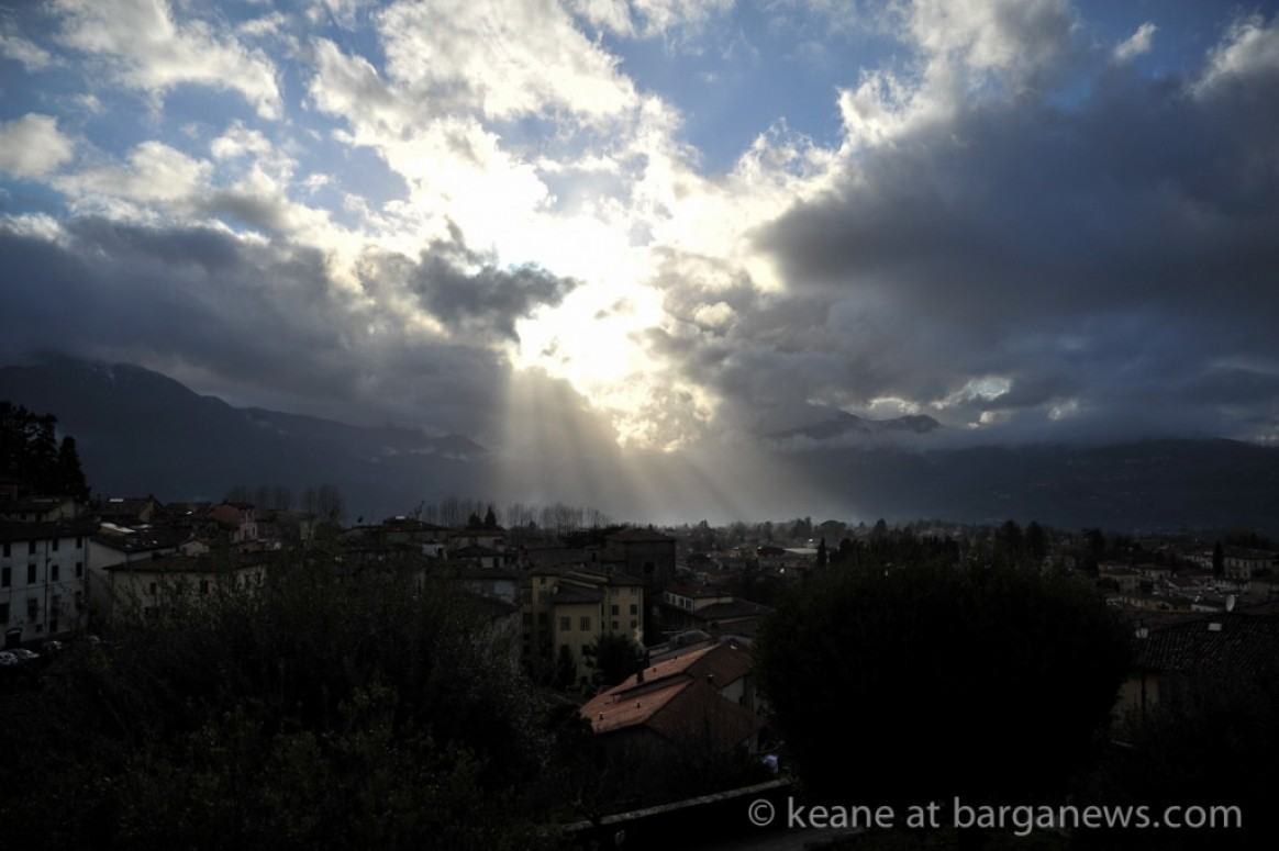 Light show from Barga in March 2015 - from Keane's Daily Image Library