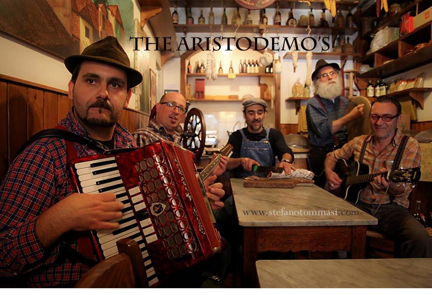 Playing with local folk band at Bar Aristo, the cultural hub of Barga.