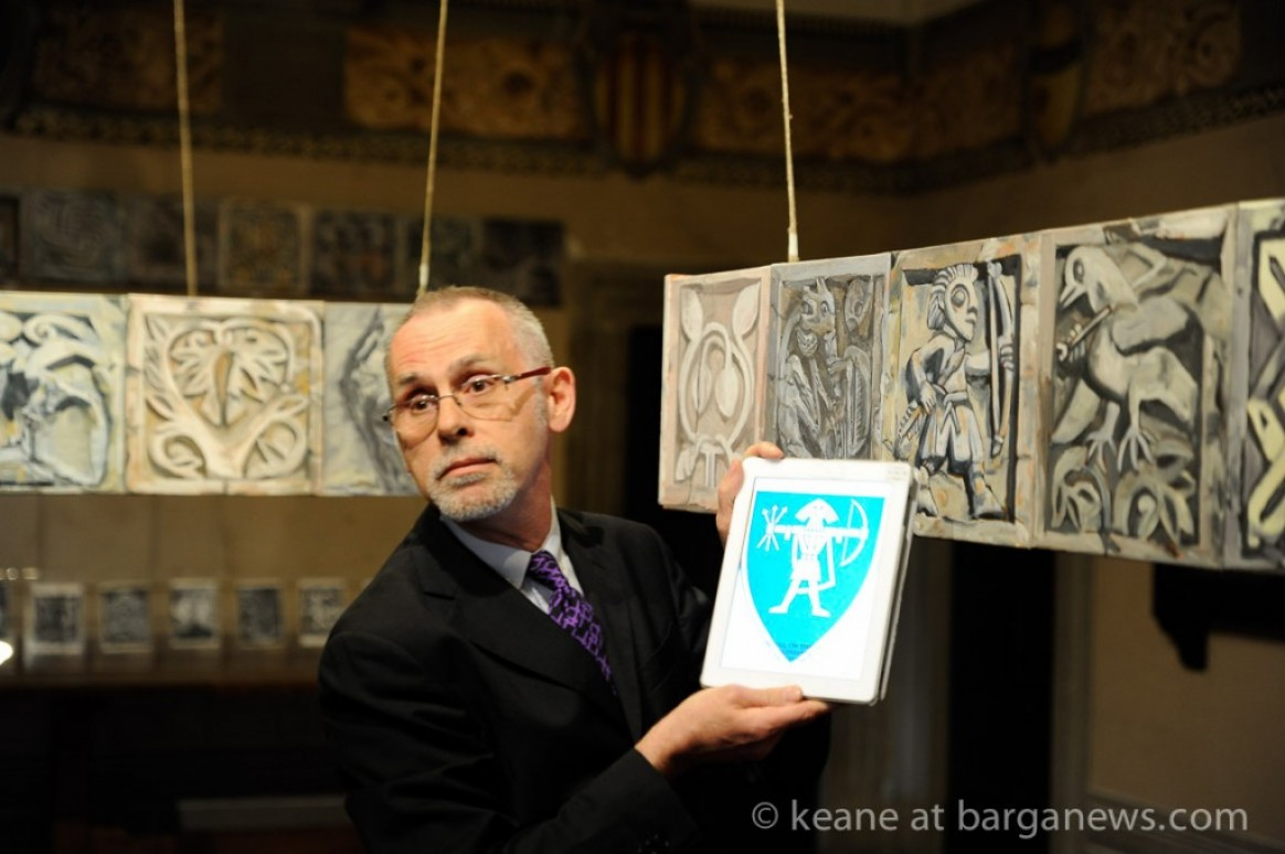 Keane at the exhibit of his Duomo Sketches in 2014