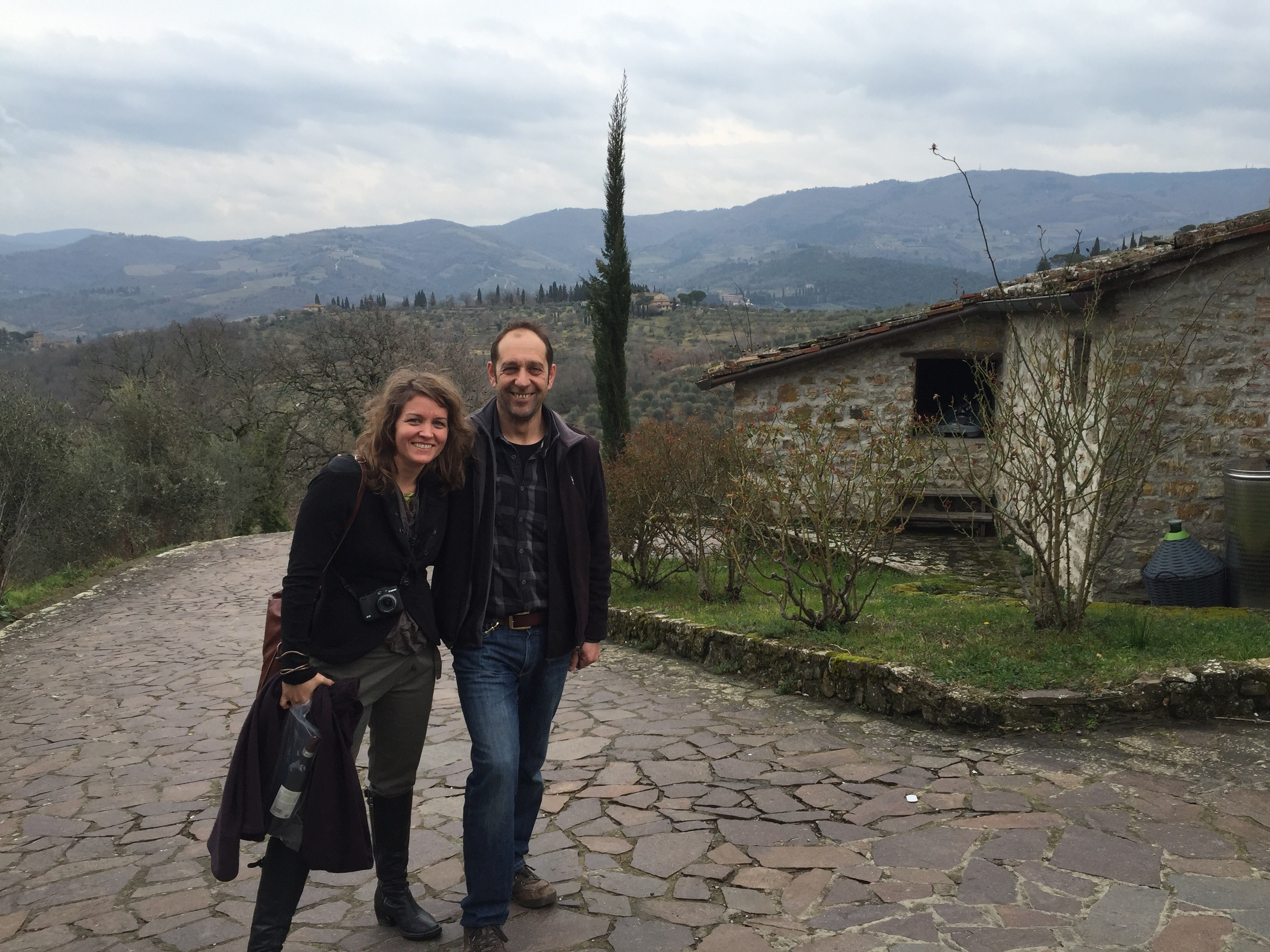 Guido of Le Fonti Winery, pioneers of organic winemaking in Panzano in Chianti. Enjoy Le Fonti at Pretto or contact Le Fonti for a tasting tour.