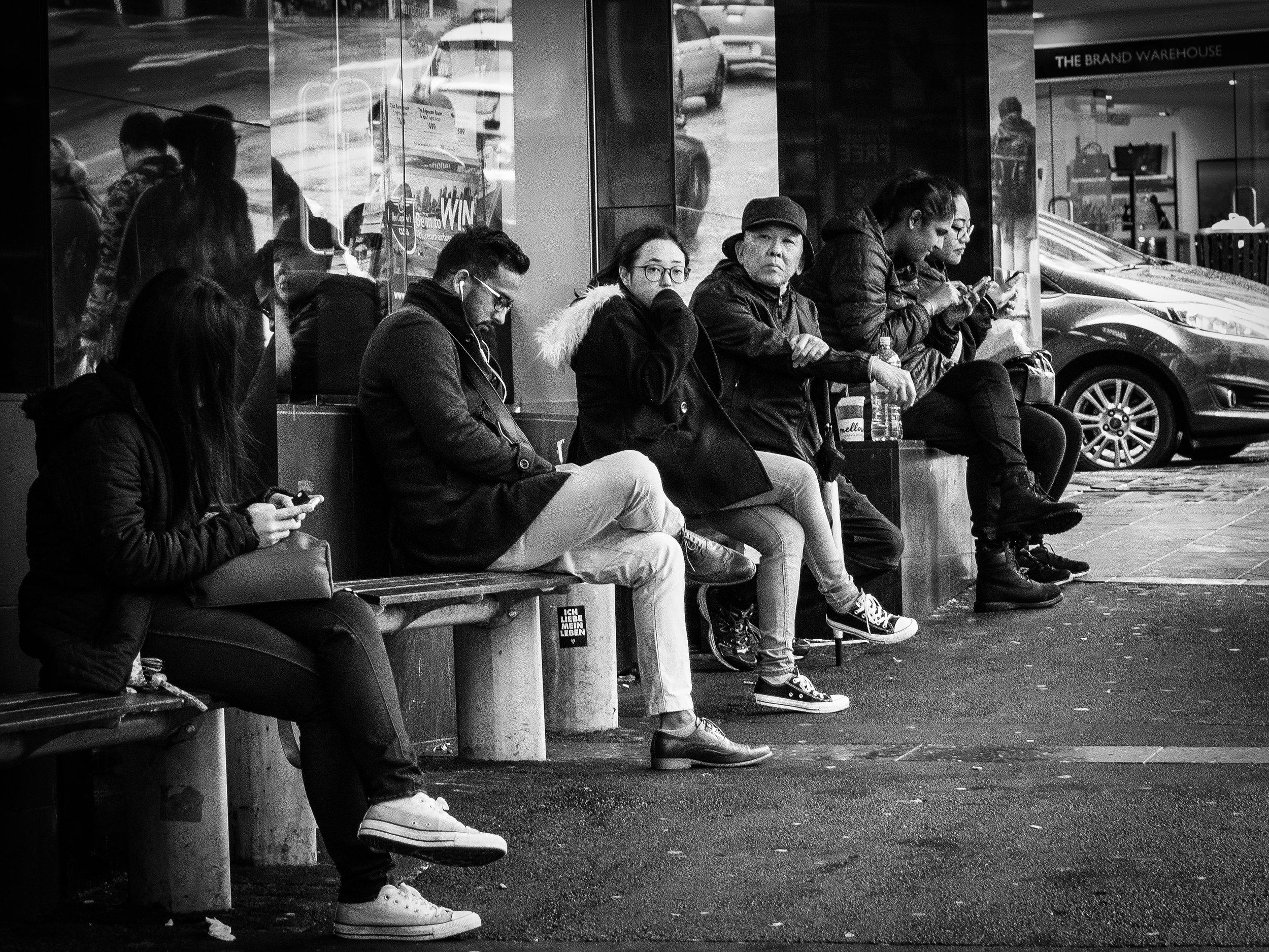 Waiting for the bus - Auckland CBD.jpg