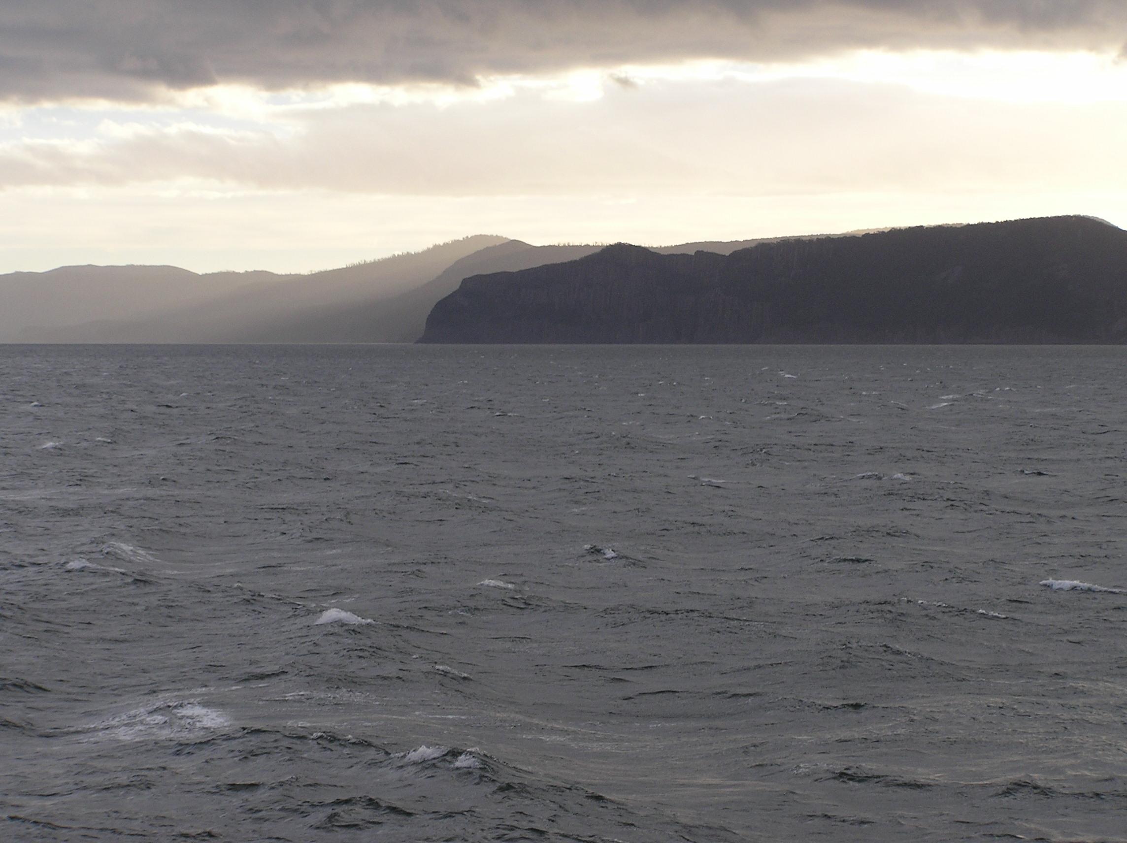 Tasmania put on an incredible show as we left Australia