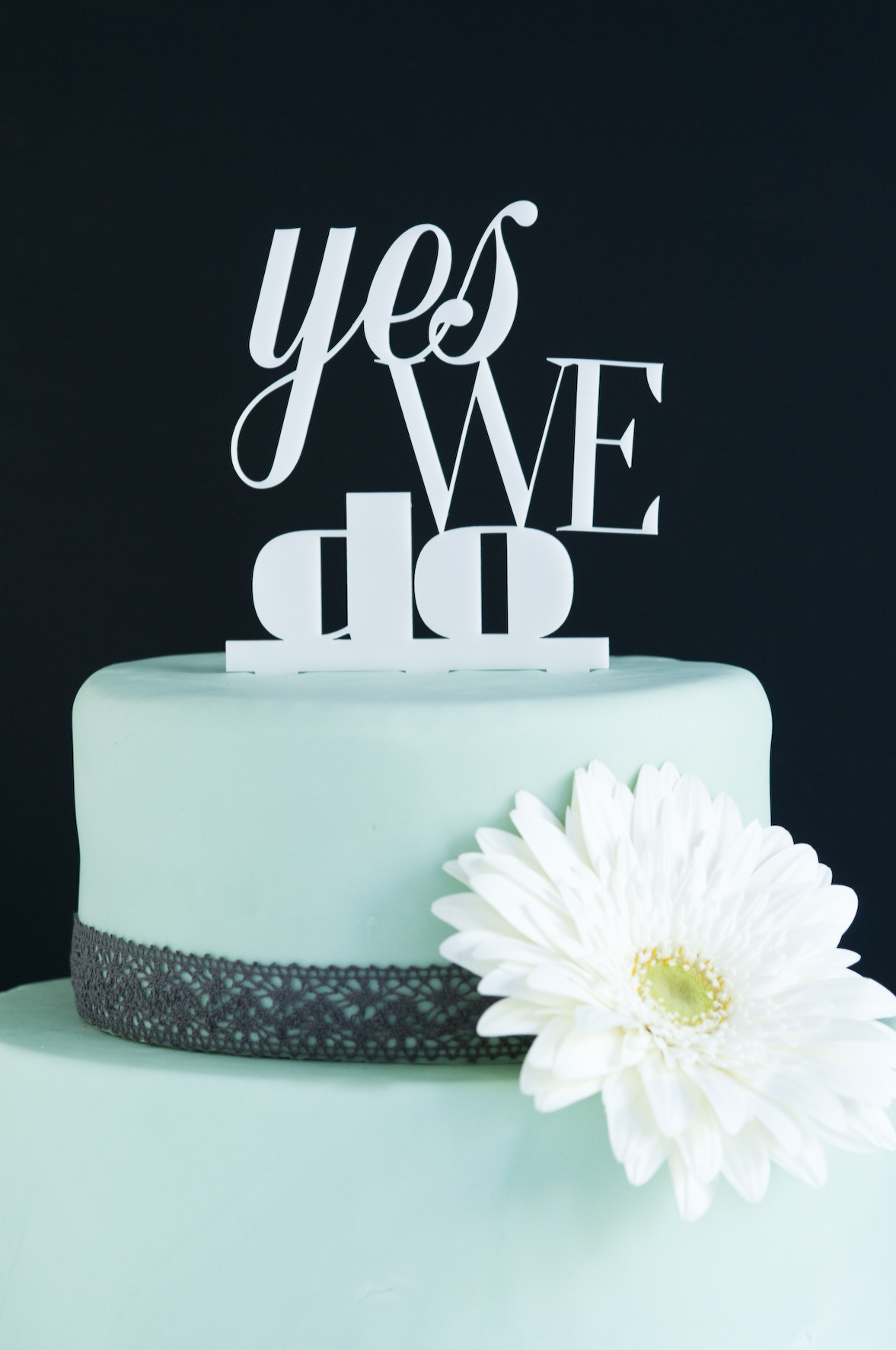 """yes we do"" Hartplastik-Caketopper"