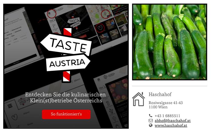 Taste Austria - Kulinarische Klein(st)betriebe entdecken!  Beschreibungsbilder für Klein(st)betriebe in Österreich