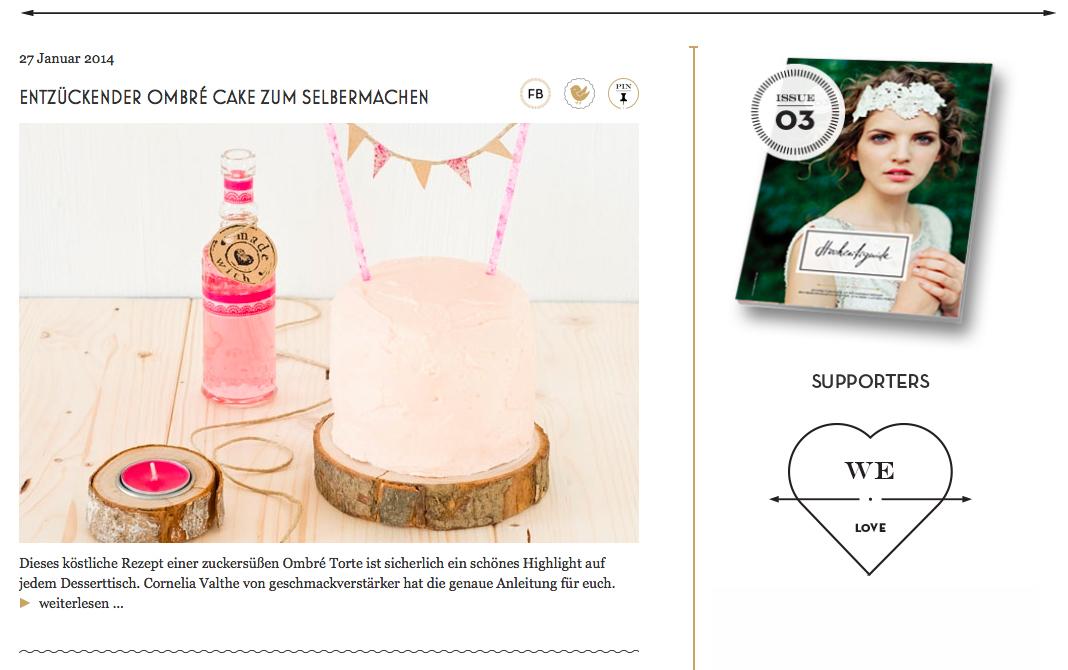 Hochzeitsguide - DIY Inspirationen (Jänner 2013) Ombré Cake zum Selbermachen