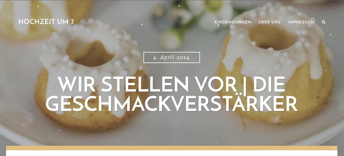 Hochzeit um 3 - introduce geschmackverstärker Mini Ring Cake with recipe and DIY ideas