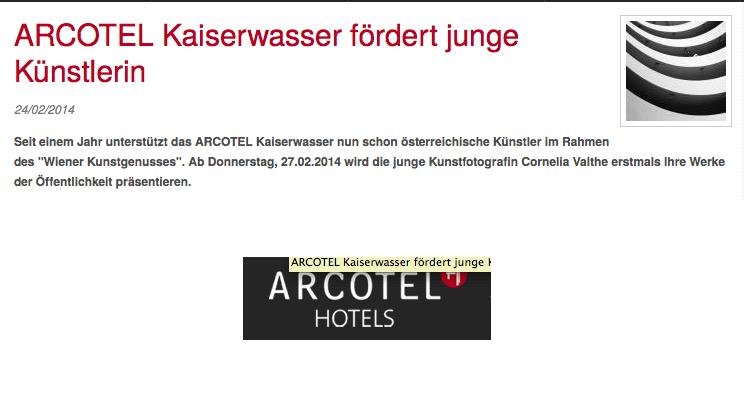 """""""Wiener Kunstgenuss"""" in  ARCOTEL Kaiserwasser Wien"""