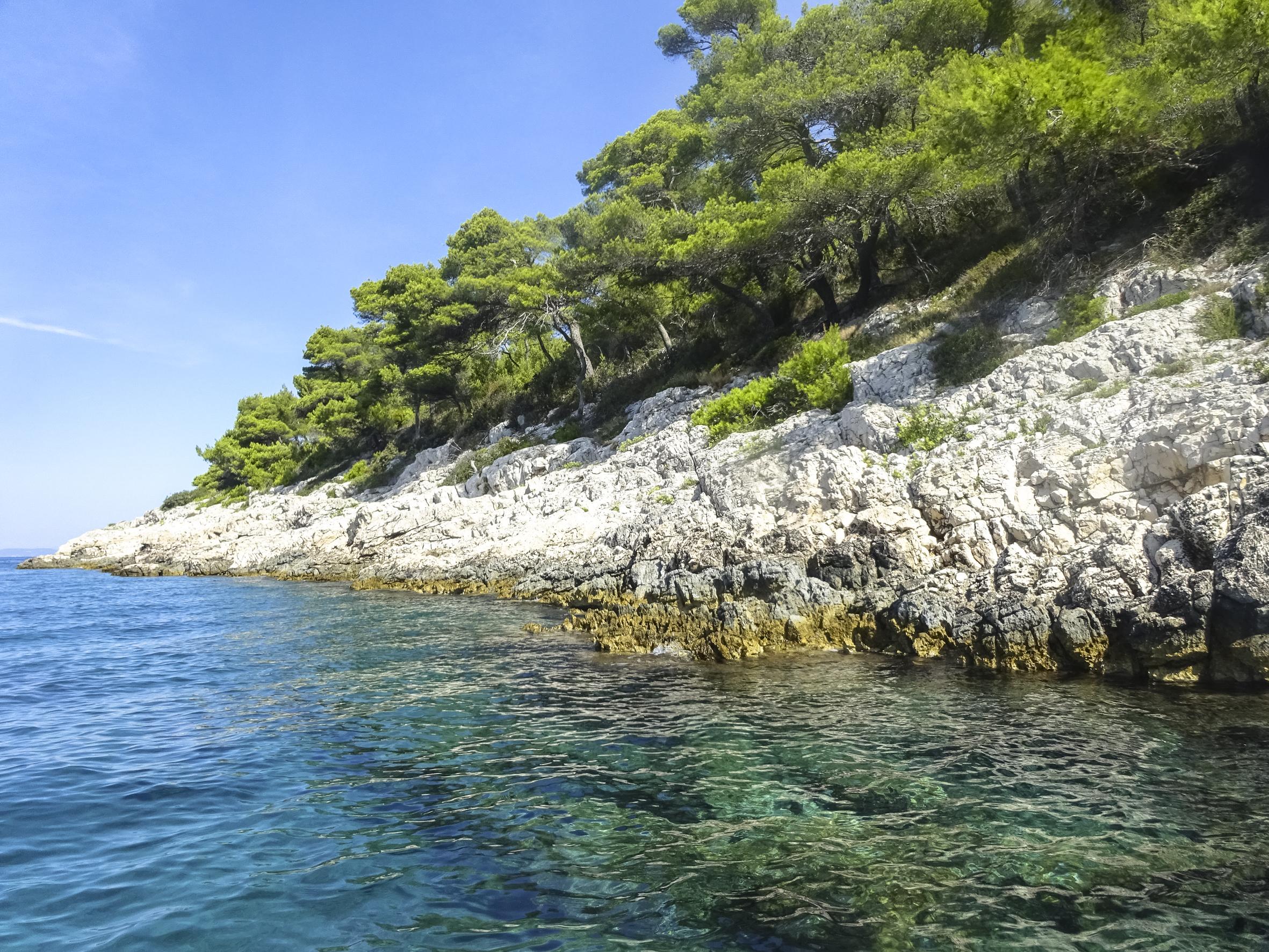 Bucht bei Camp Vira (Insel Hvar)