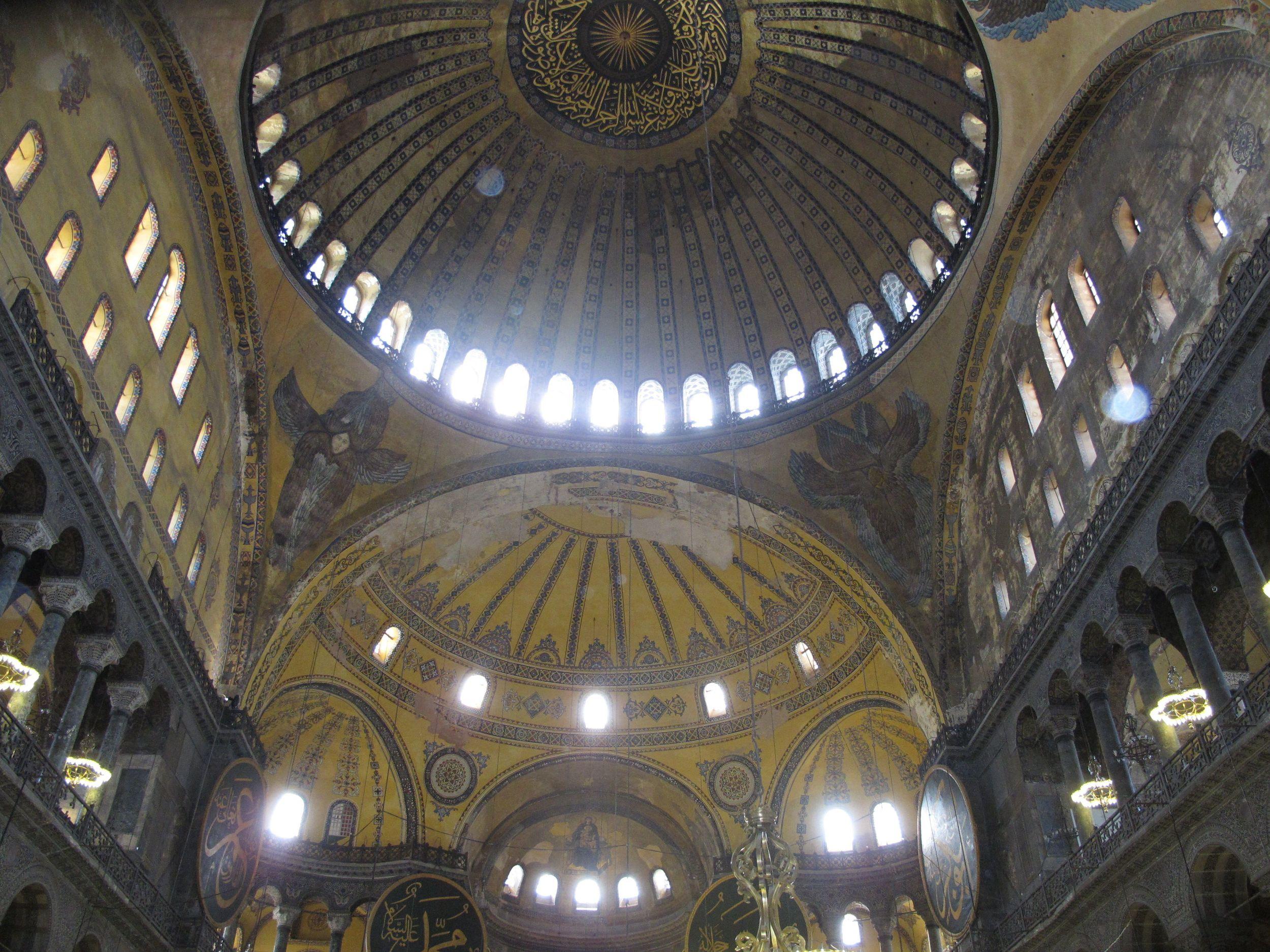 Inside the Hagia Sofia, Istanbul. Photo by Kim Kash