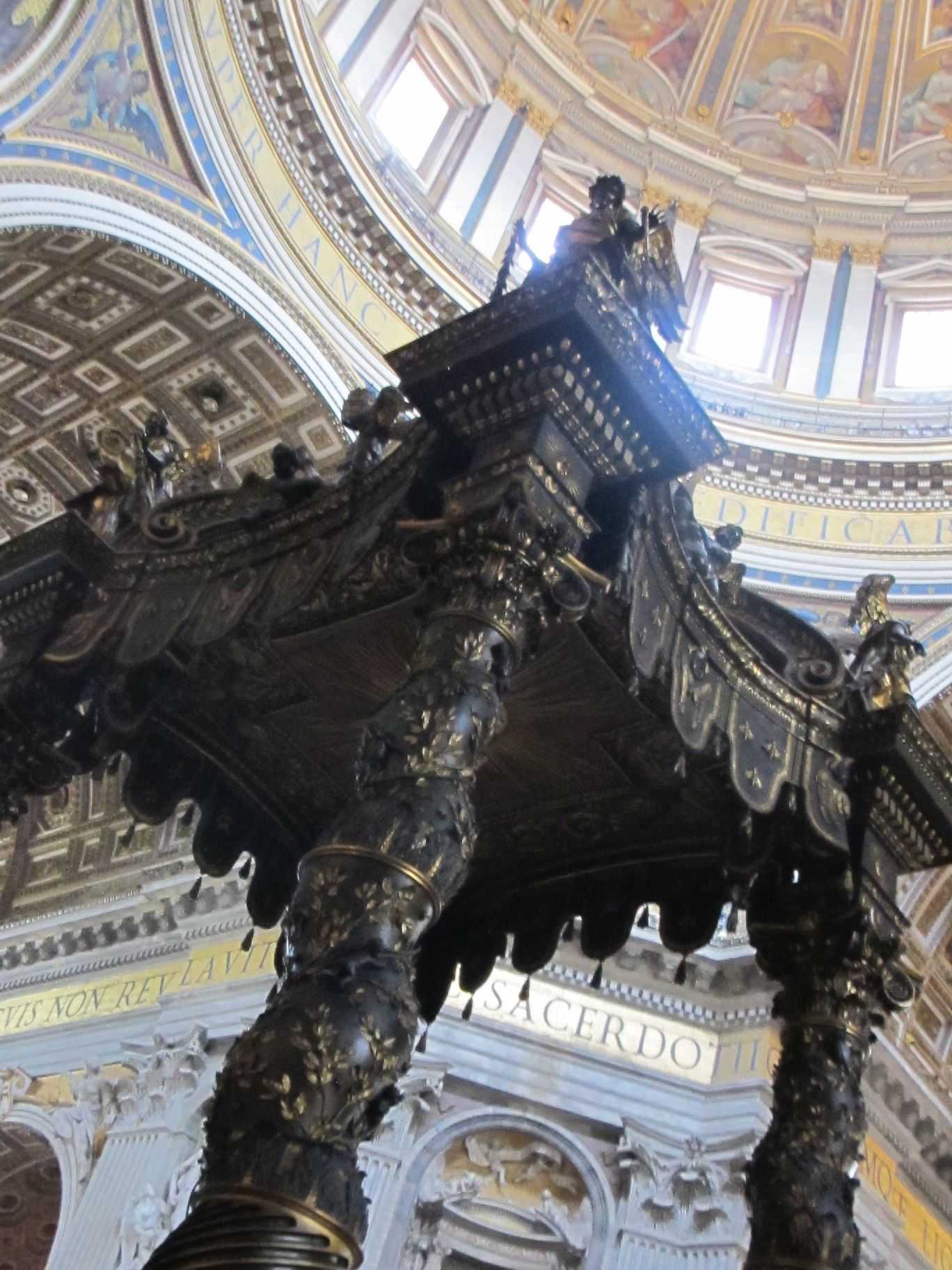 Here it is, a slice of St. Peter's dome. Photo by Kim Kash