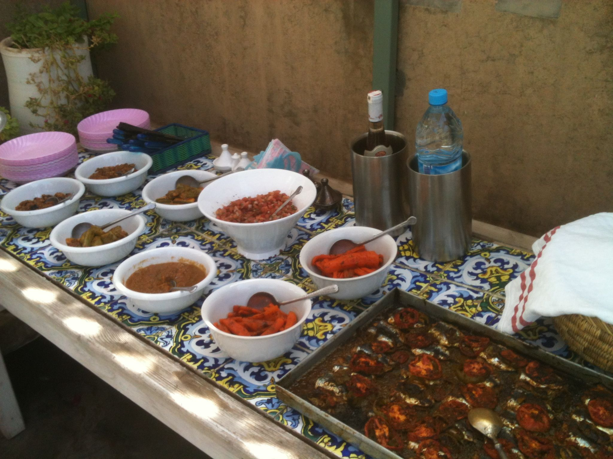 The fruits of our labor in a Marrakesh cooking class