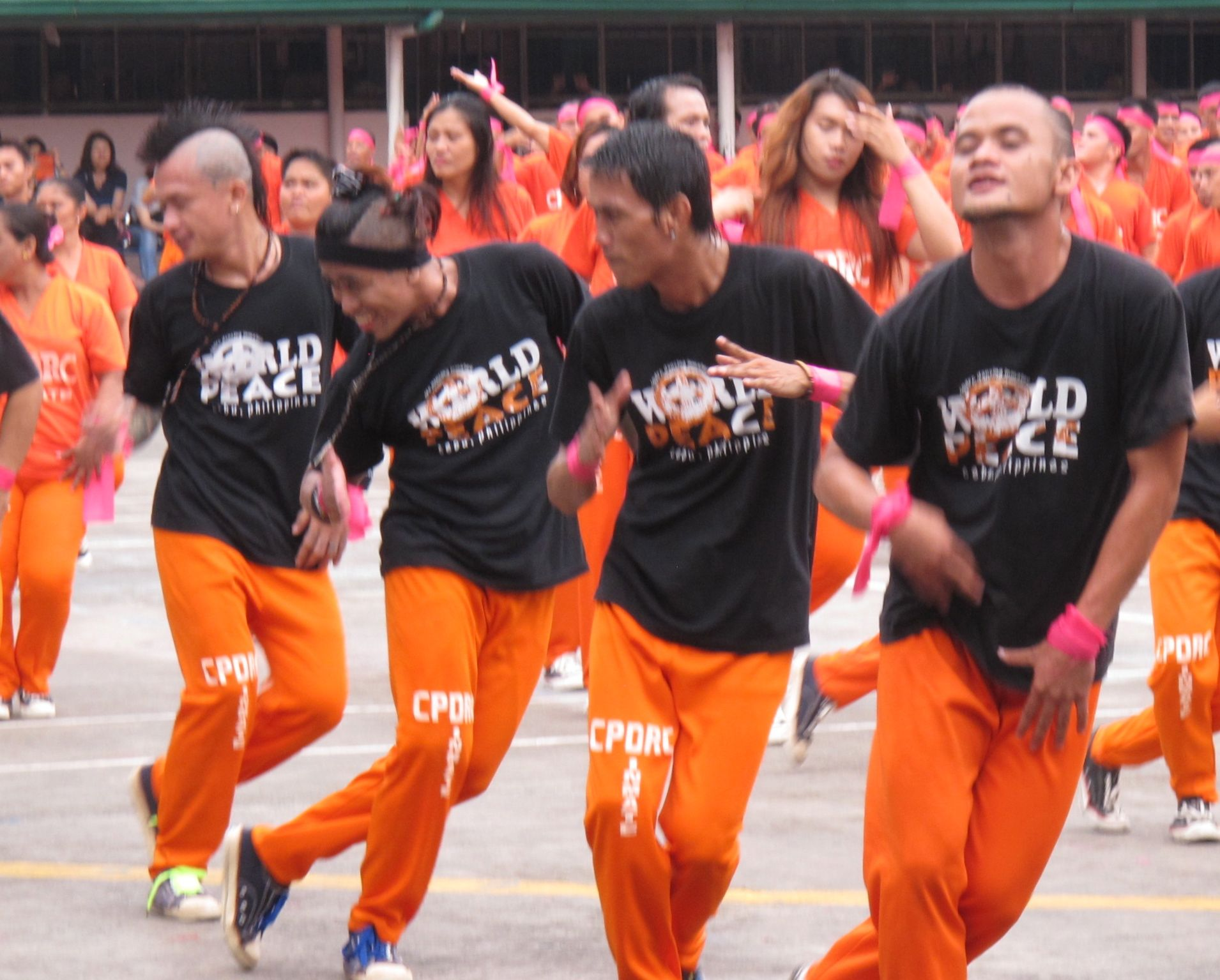 Cebu Detention Center inmates shakin' their thang during their monthly performance in the prison yard.