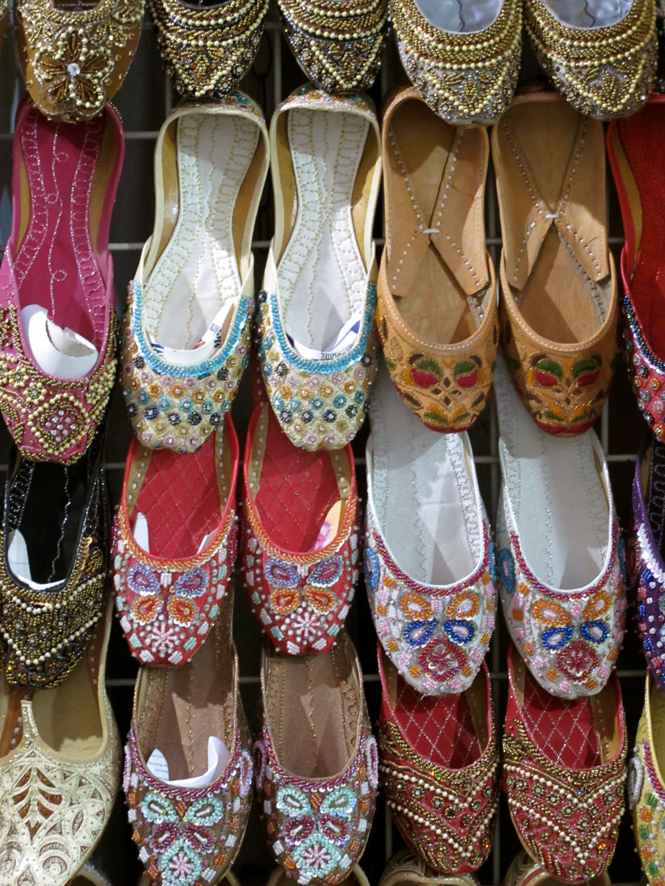 Shoes in the gold souq