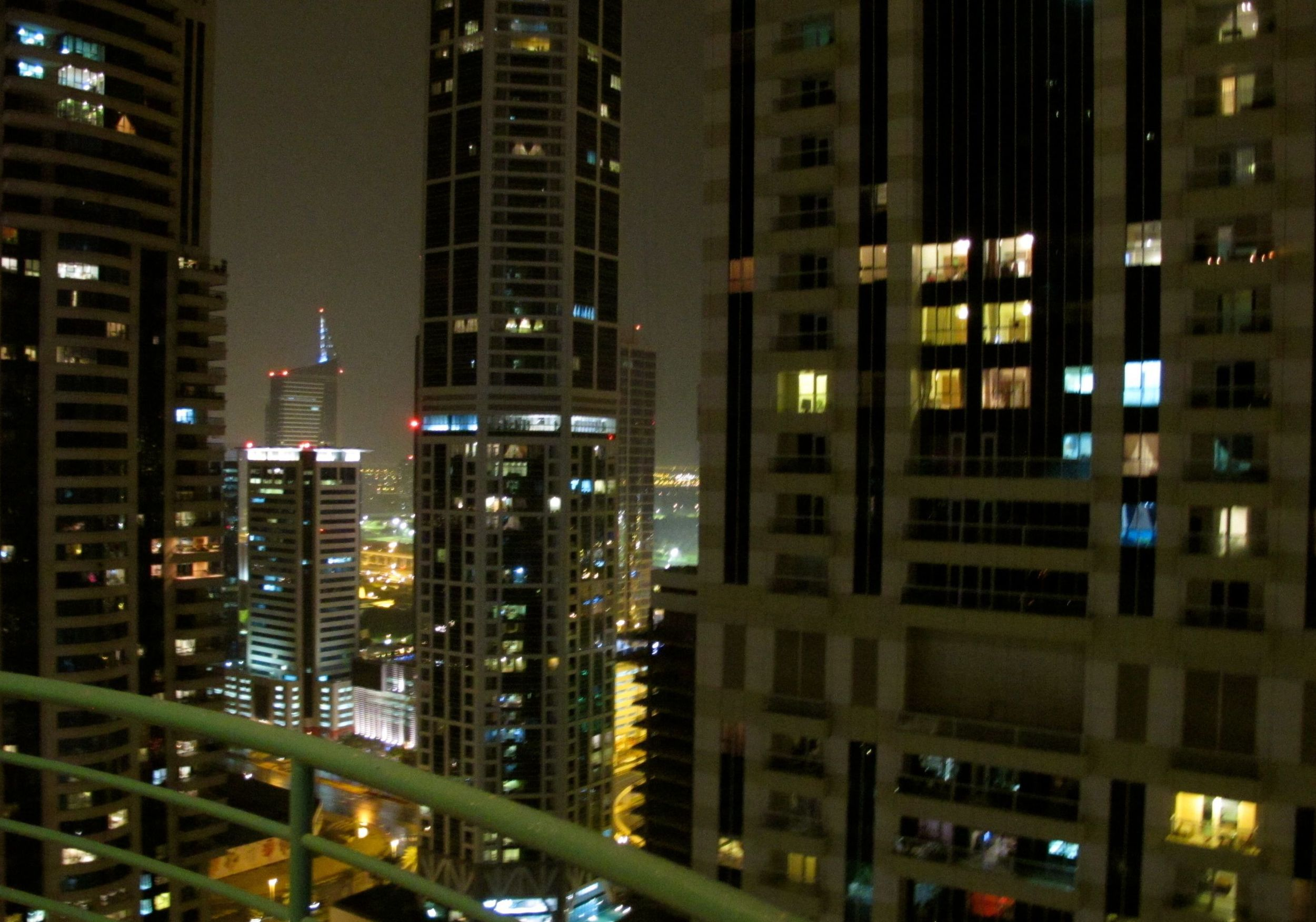 Night views from Barbie's penthouse