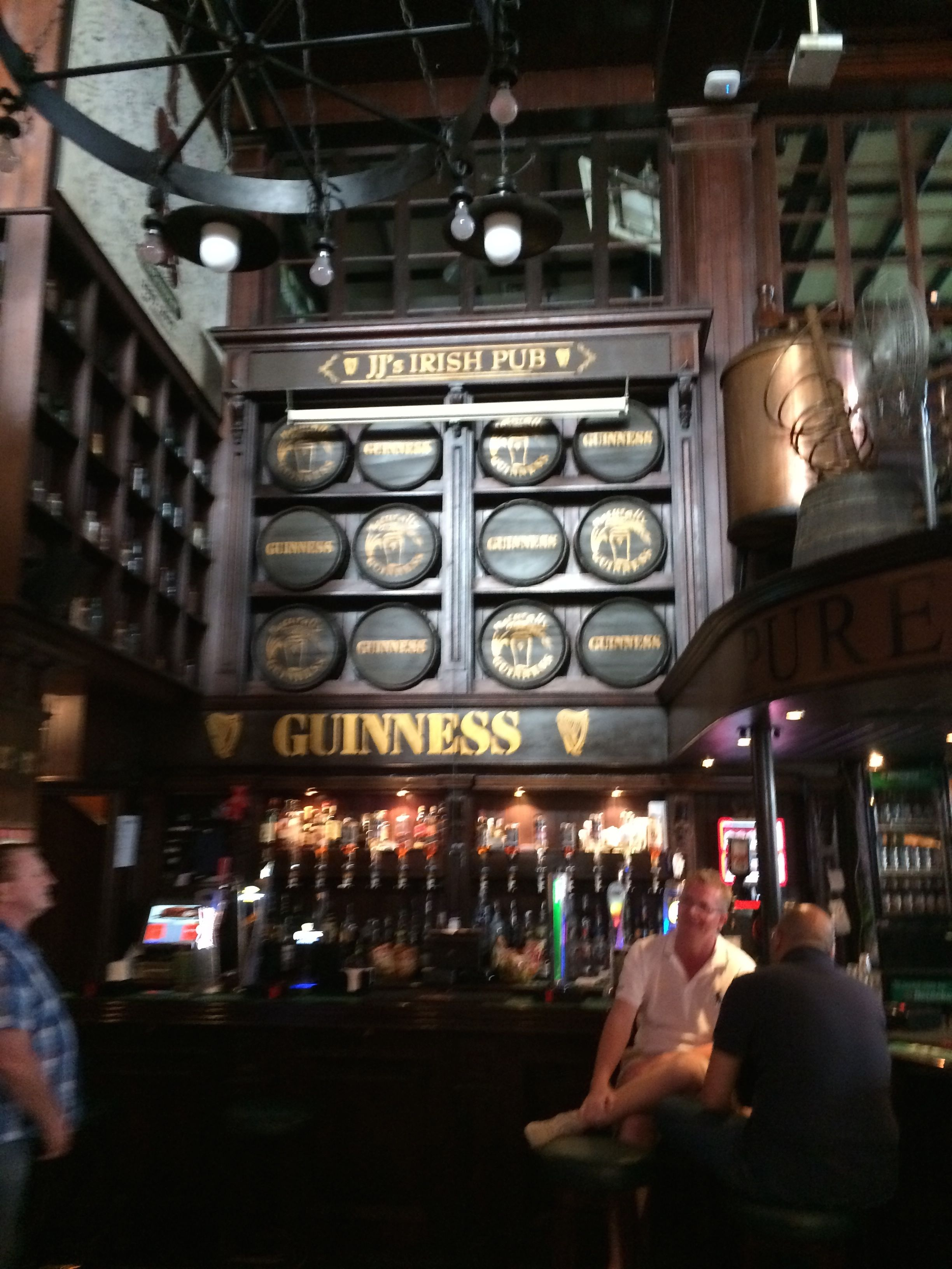 The shrine to Guinness at JJs Pub in Bahrain
