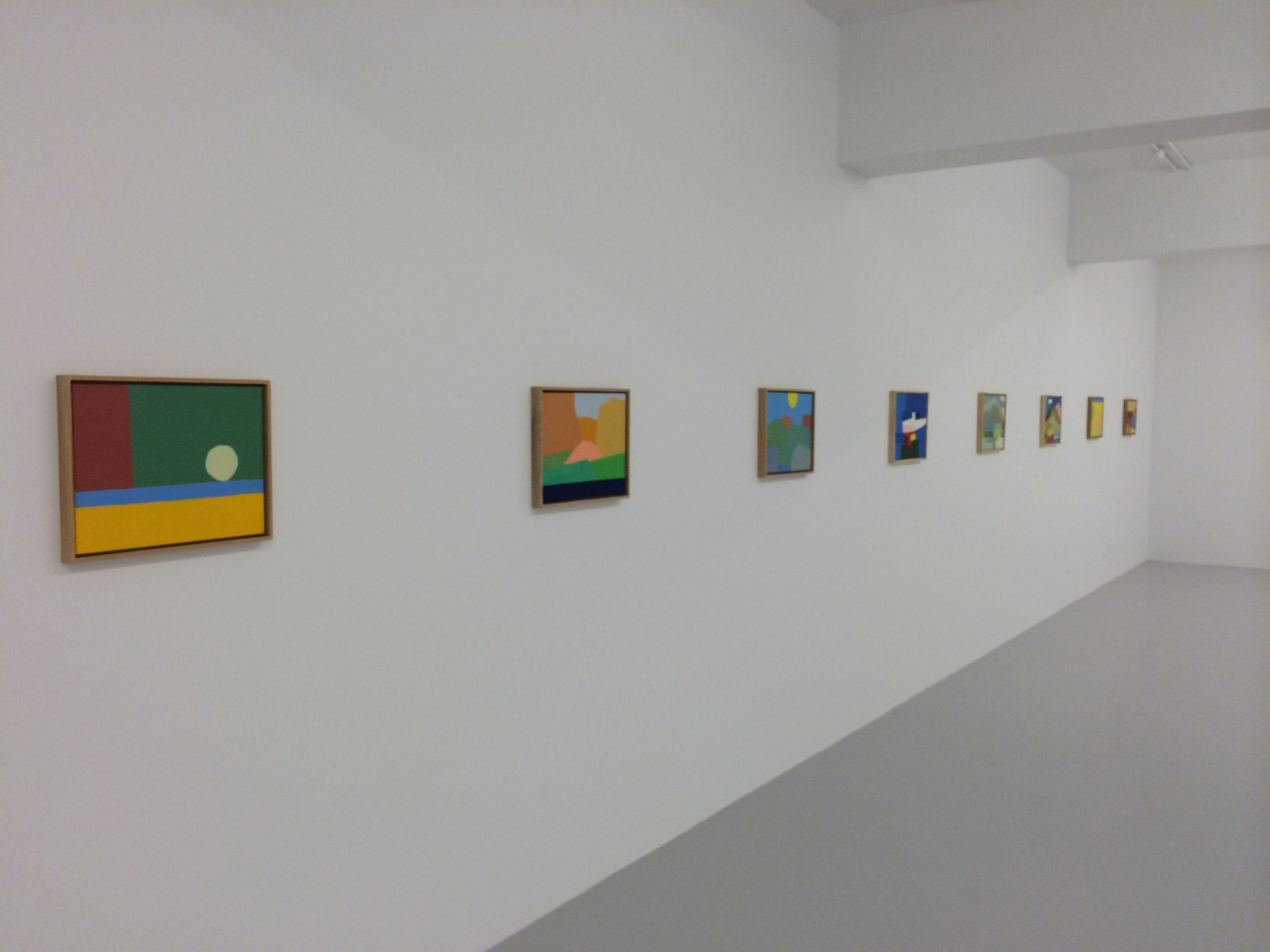 Some of Etel Adnan's paintings at Mathaf