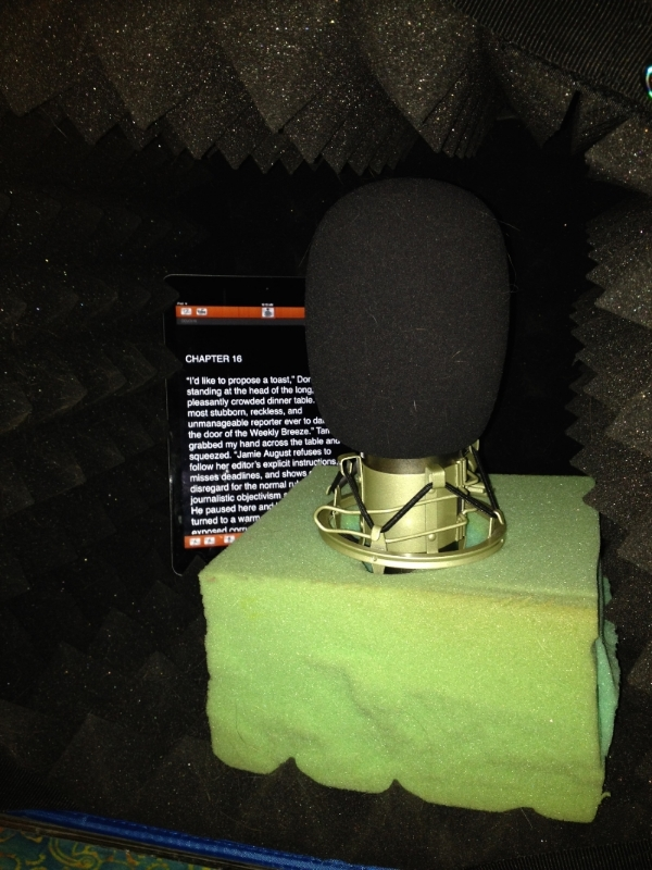 Izolda's little sound booth during the recording of  Ocean City Lowdown