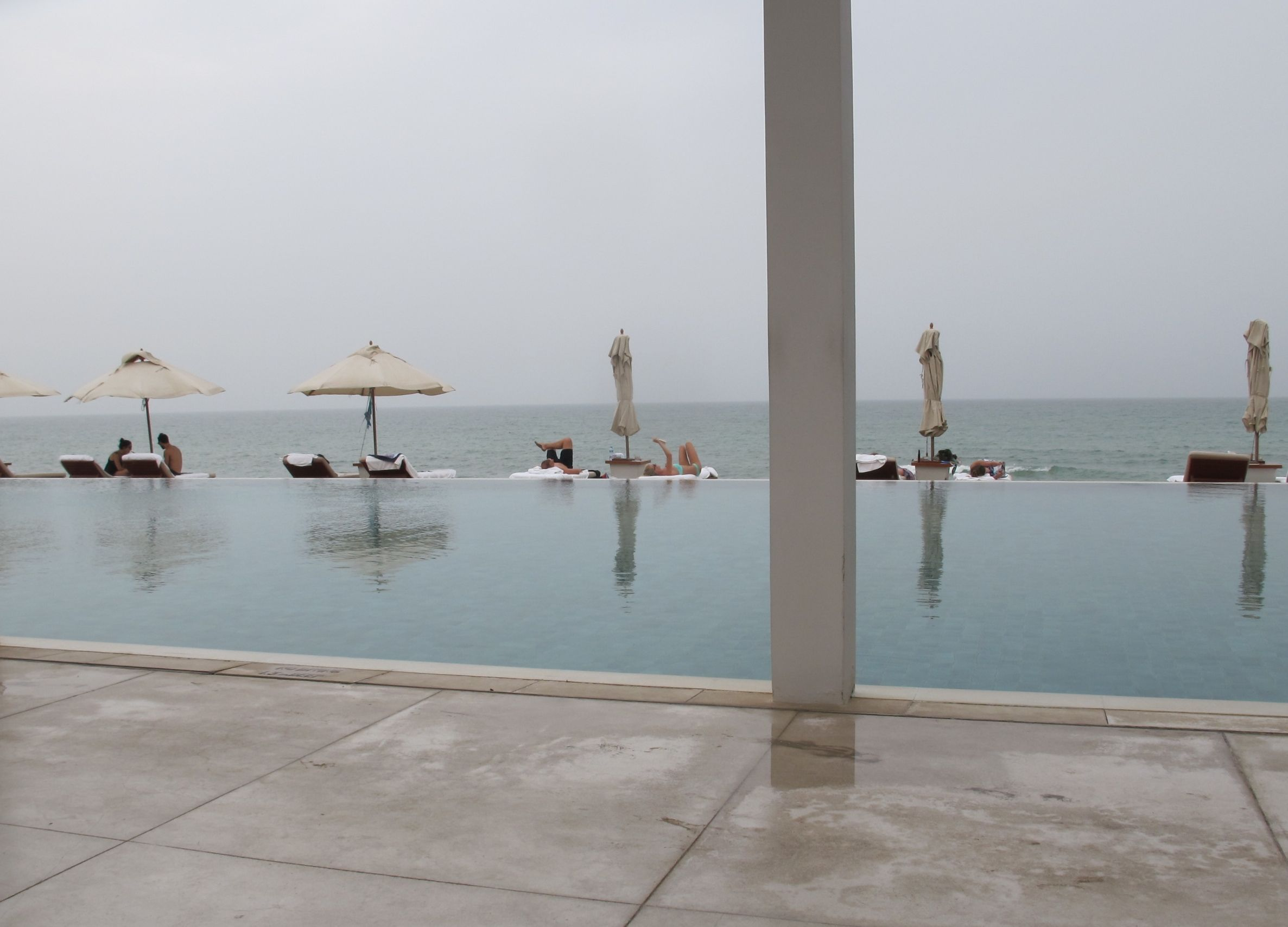 An overcast afternoon at the hotel's beach: For me, it was a perfect beach day.